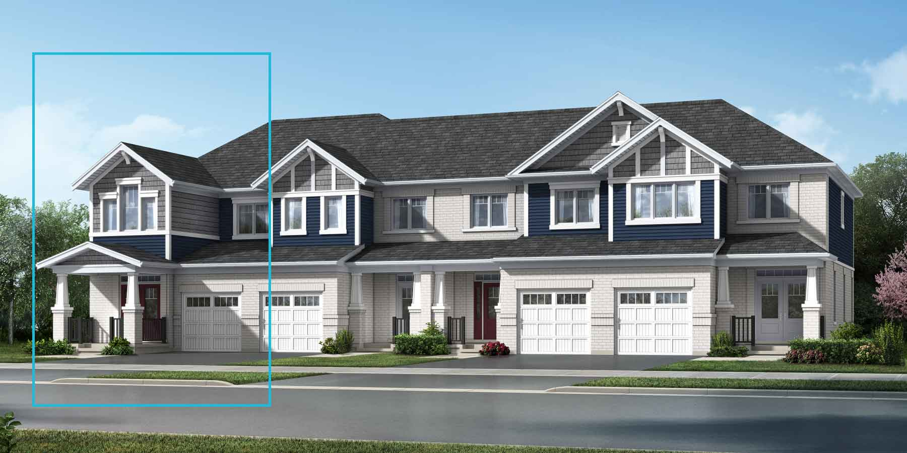 The Trussler End Plan elevationcraftsman_southestates_trusslerend at Wildflower Crossing in Kitchener Ontario by Mattamy Homes
