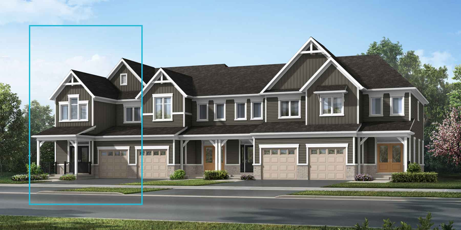 The Trussler End Plan elevationfarmhouse_southestates_trusslerend_main at Wildflower Crossing in Kitchener Ontario by Mattamy Homes