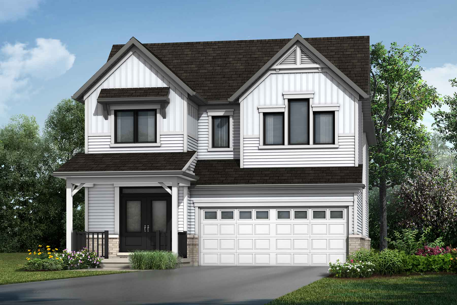 The Weber Plan Elevation Front at Wildflower Crossing in Kitchener Ontario by Mattamy Homes