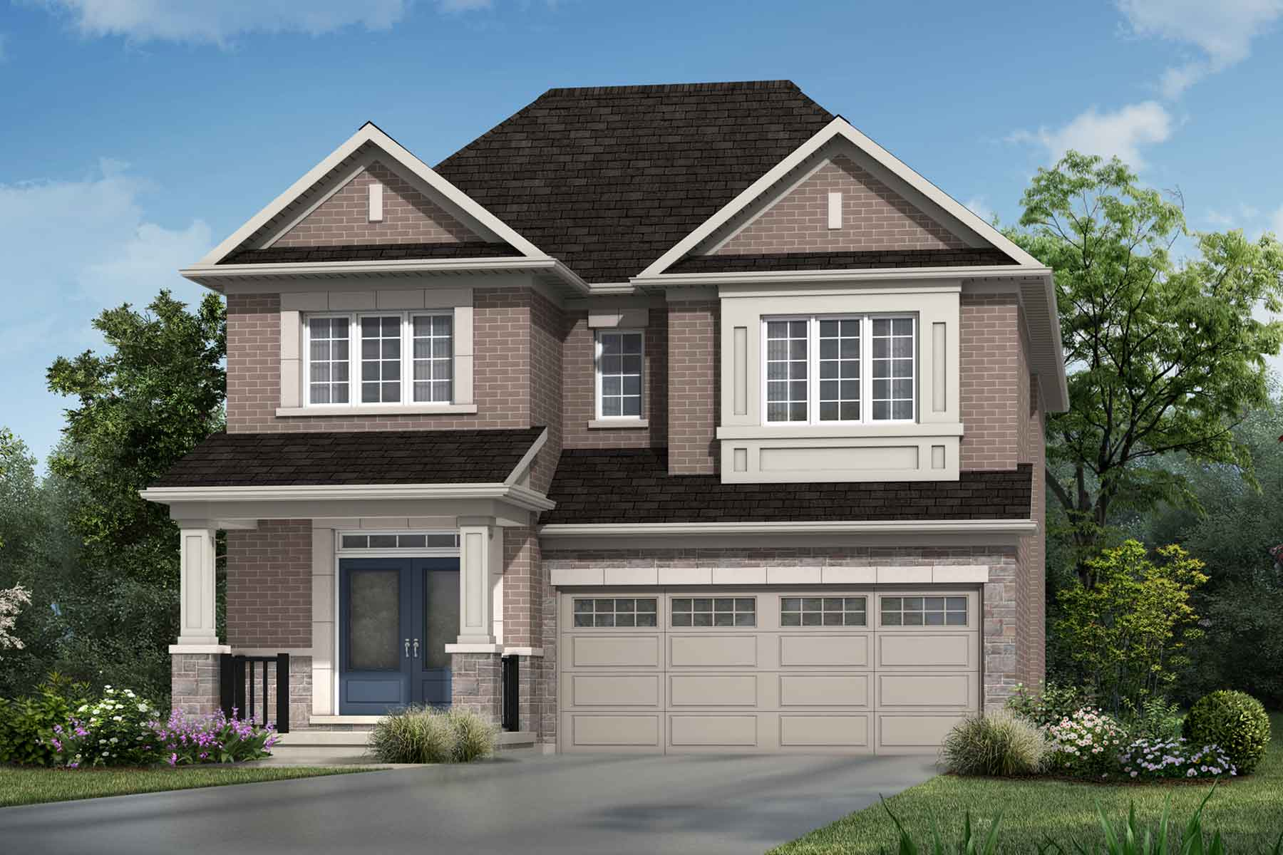 The Weber Plan traditional_southestates_weber_main at Wildflower Crossing in Kitchener Ontario by Mattamy Homes