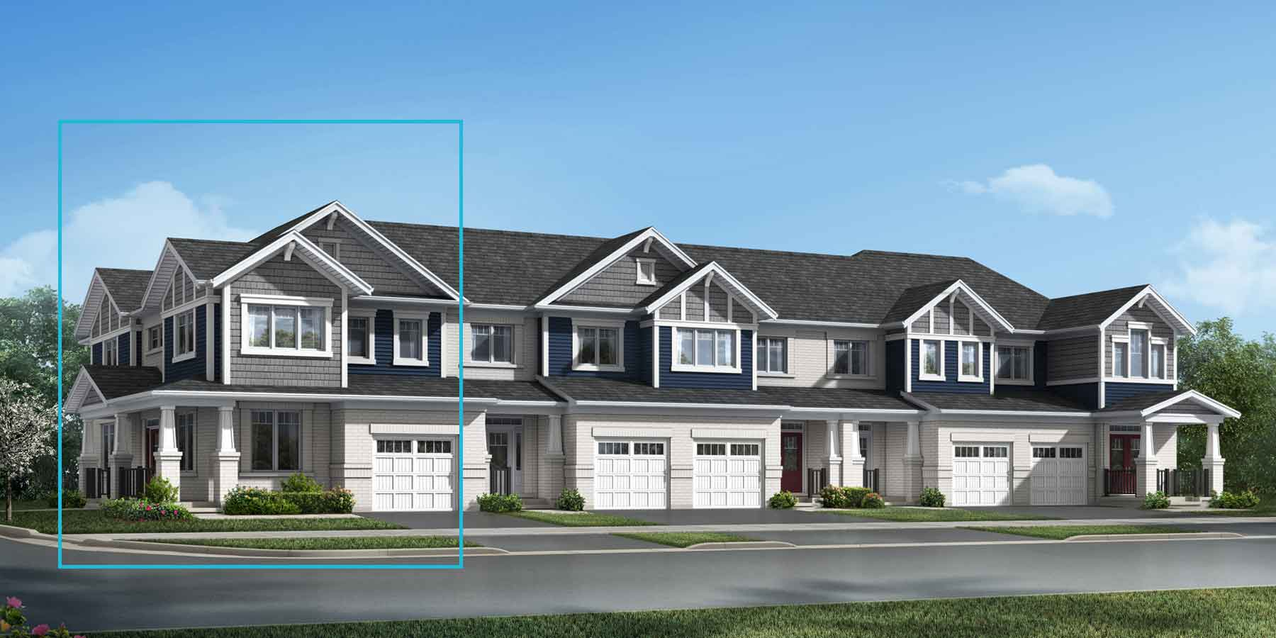 The Wellesley Corner Plan TownHomes at Wildflower Crossing in Kitchener Ontario by Mattamy Homes