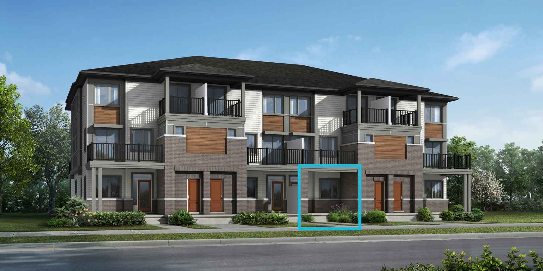 Foxglove Plan TownHomes at Blackstone South in Kanata Ontario by Mattamy Homes