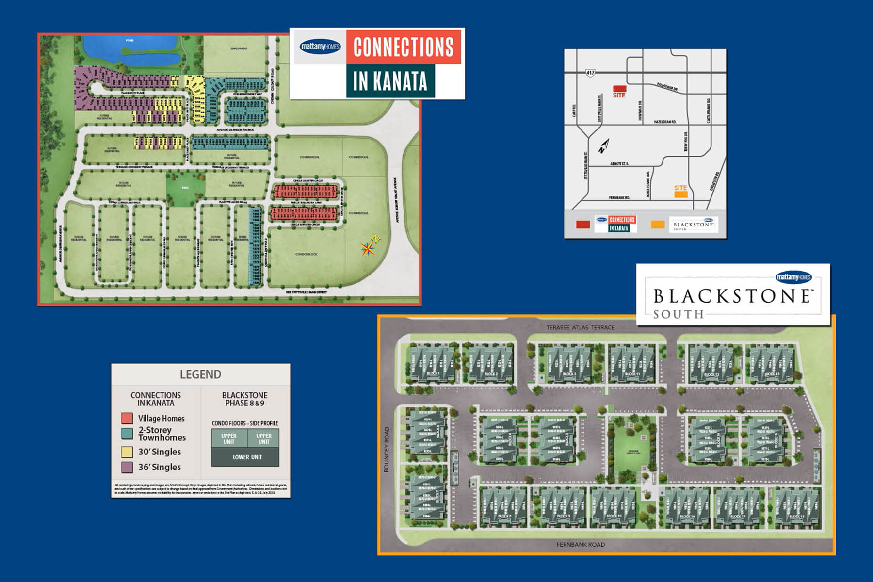 Blackstone South Lot Map in Kanata Ontario by Mattamy Homes