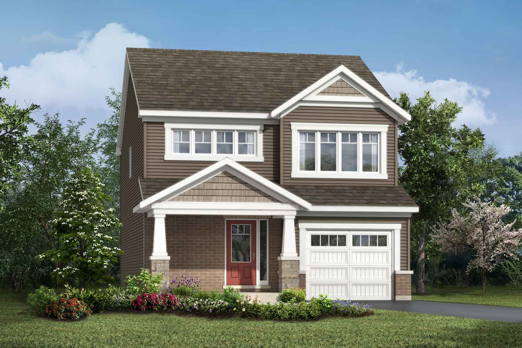 Elm Plan Elevation Front at Connections In Kanata in Kanata Ontario by Mattamy Homes