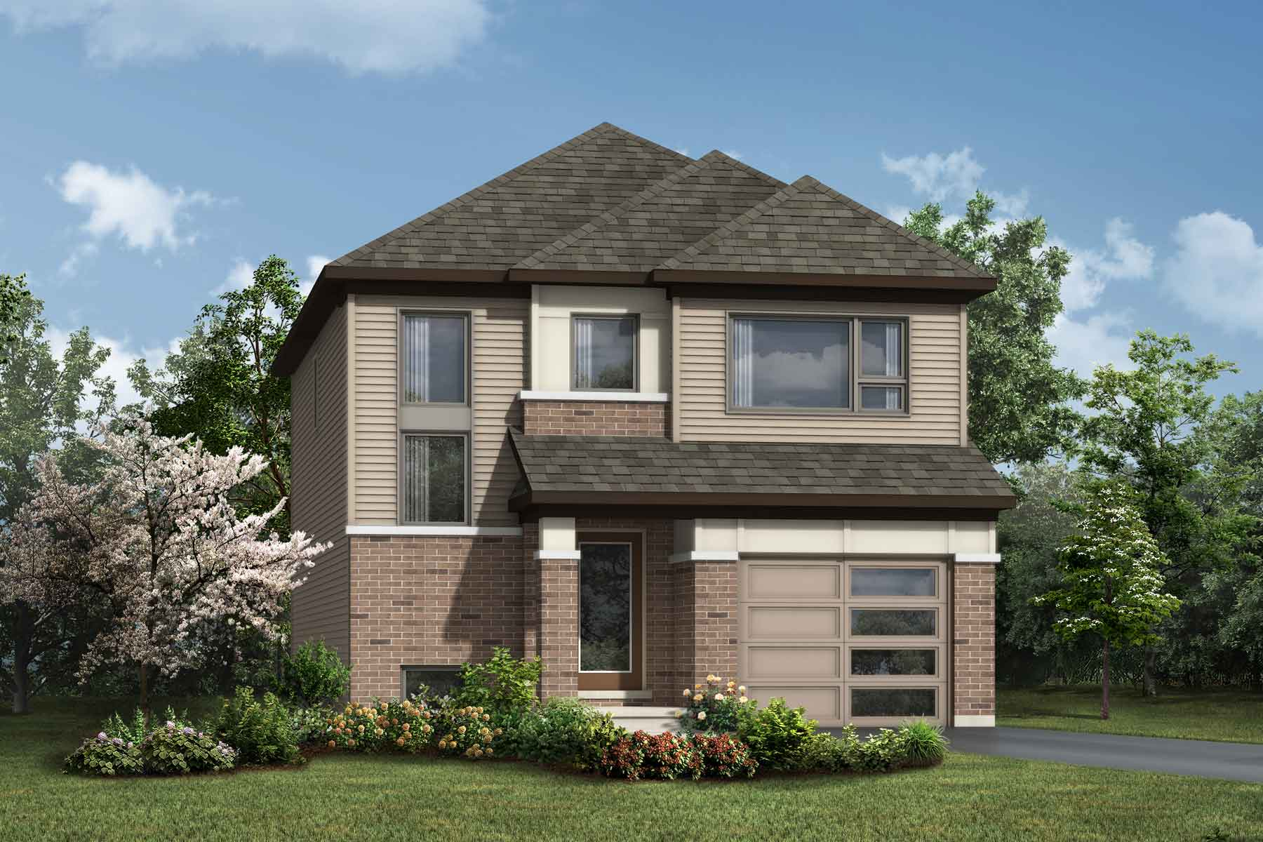 Atrium Plan Elevation Front at Connections In Kanata in Kanata Ontario by Mattamy Homes