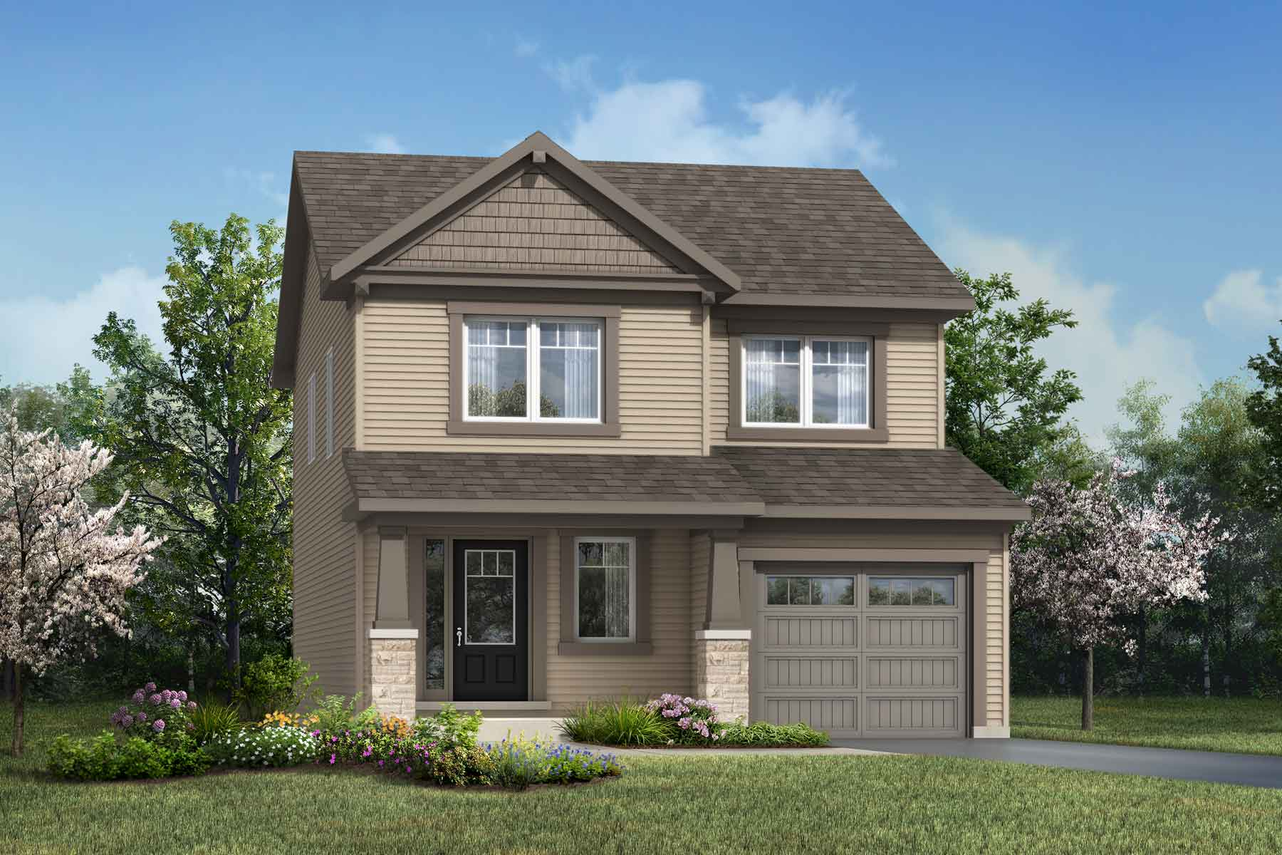 Broadleaf Plan Elevation Front at Connections In Kanata in Kanata Ontario by Mattamy Homes