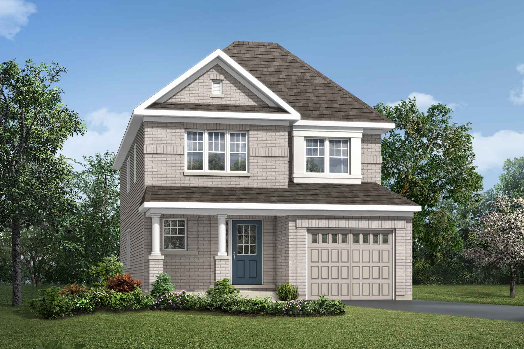 Elderberry Plan Elevation Front at Connections In Kanata in Kanata Ontario by Mattamy Homes