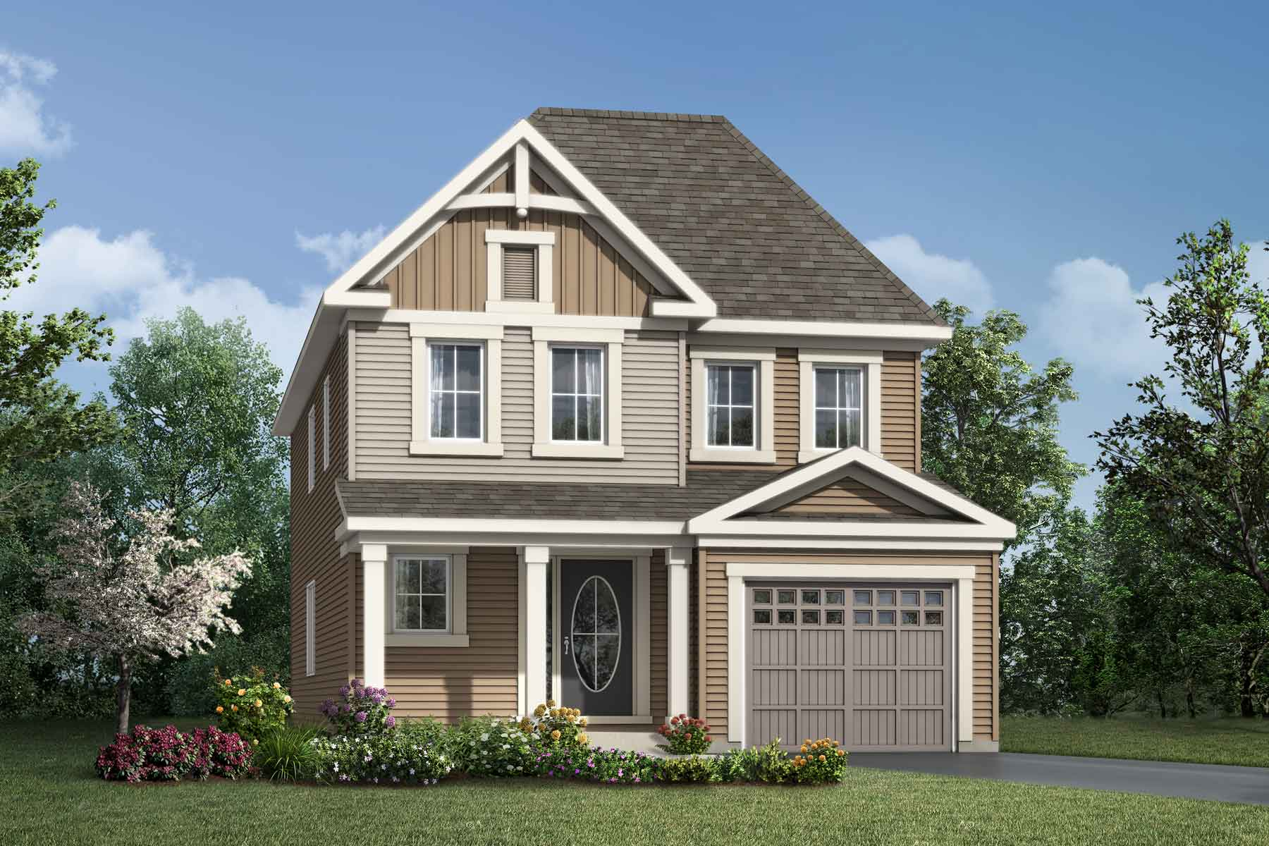 Woodland Corner Plan Elevation Front at Connections In Kanata in Kanata Ontario by Mattamy Homes
