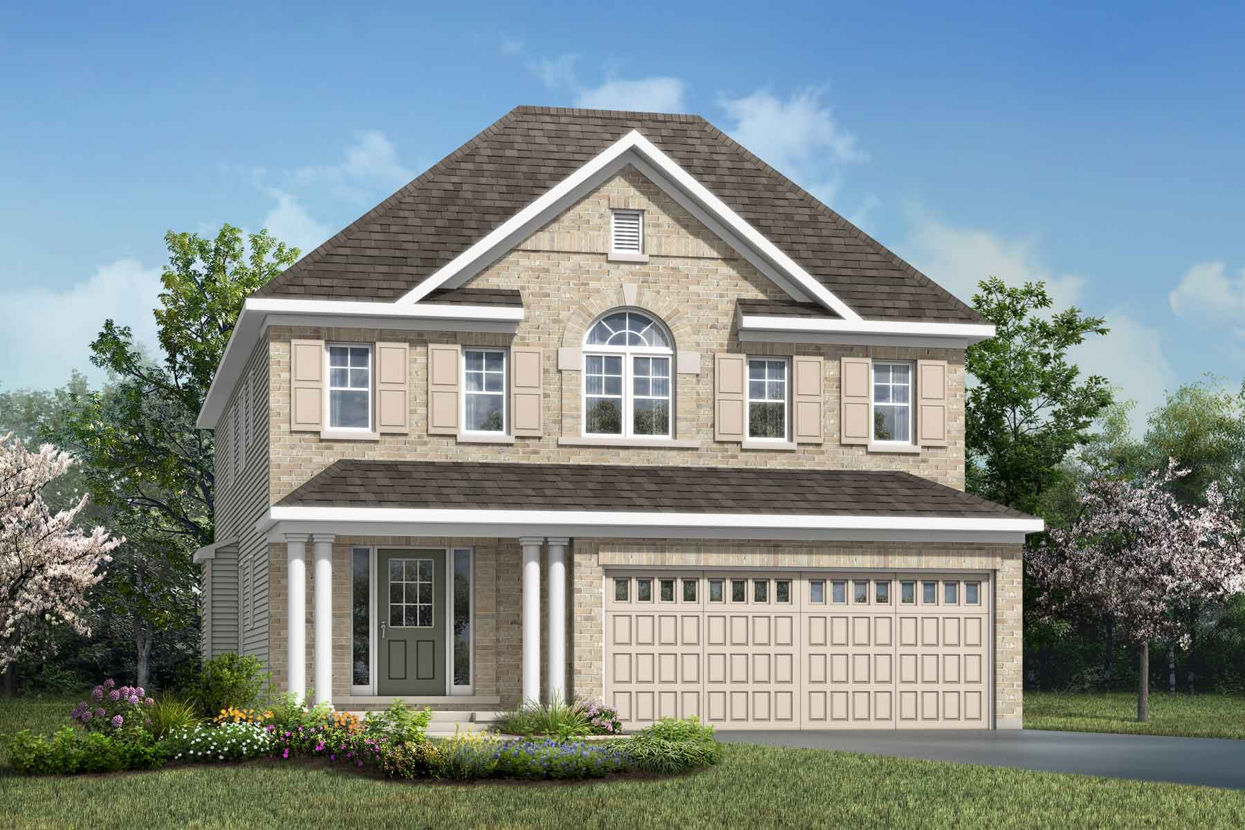 Magnolia Plan Elevation Front at Connections In Kanata in Kanata Ontario by Mattamy Homes