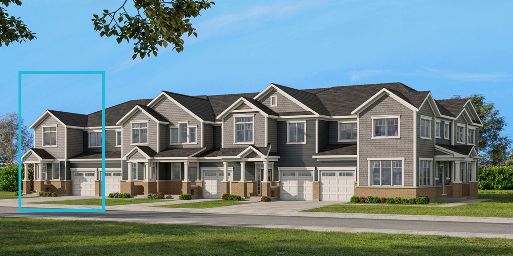 Majestic End Plan TownHomes at Connections In Kanata in Kanata Ontario by Mattamy Homes