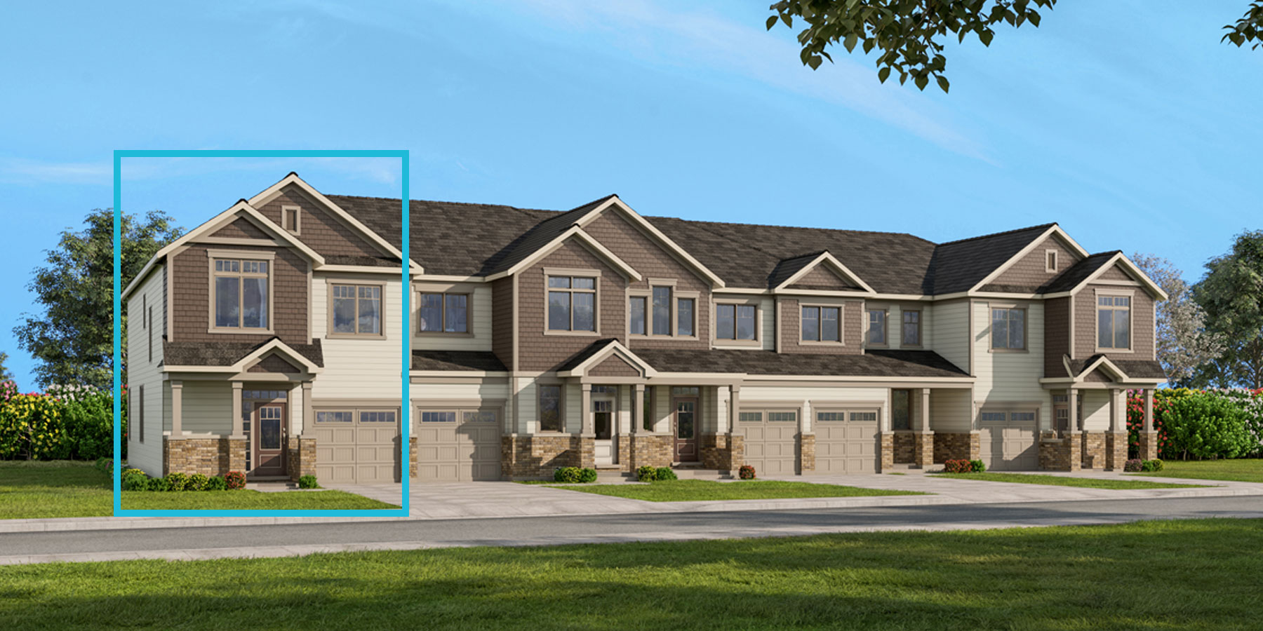 Oak End Plan TownHomes at Connections In Kanata in Kanata Ontario by Mattamy Homes
