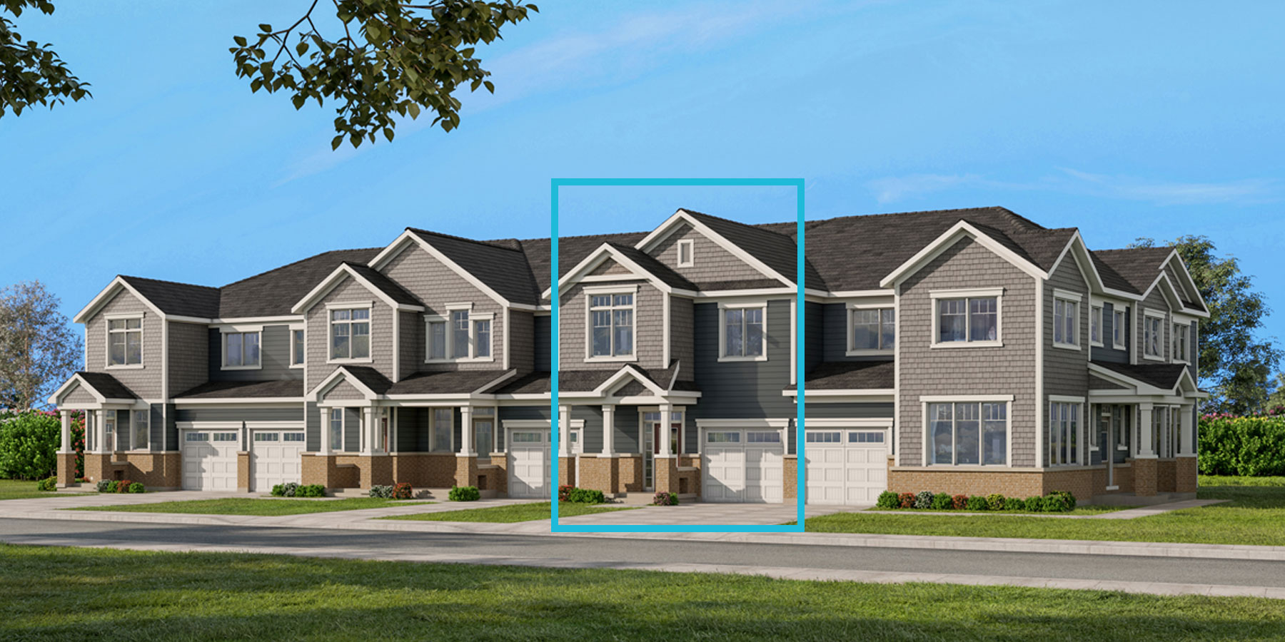 Oak Plan TownHomes at Connections In Kanata in Kanata Ontario by Mattamy Homes