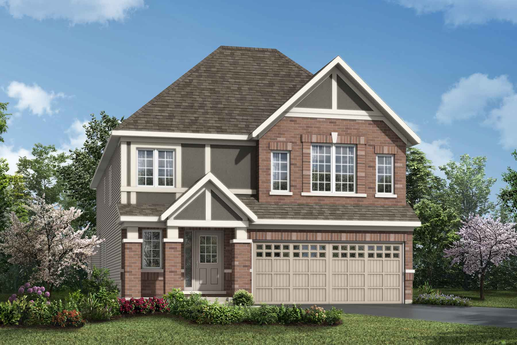 Parkside Plan Elevation Front at Connections In Kanata in Kanata Ontario by Mattamy Homes