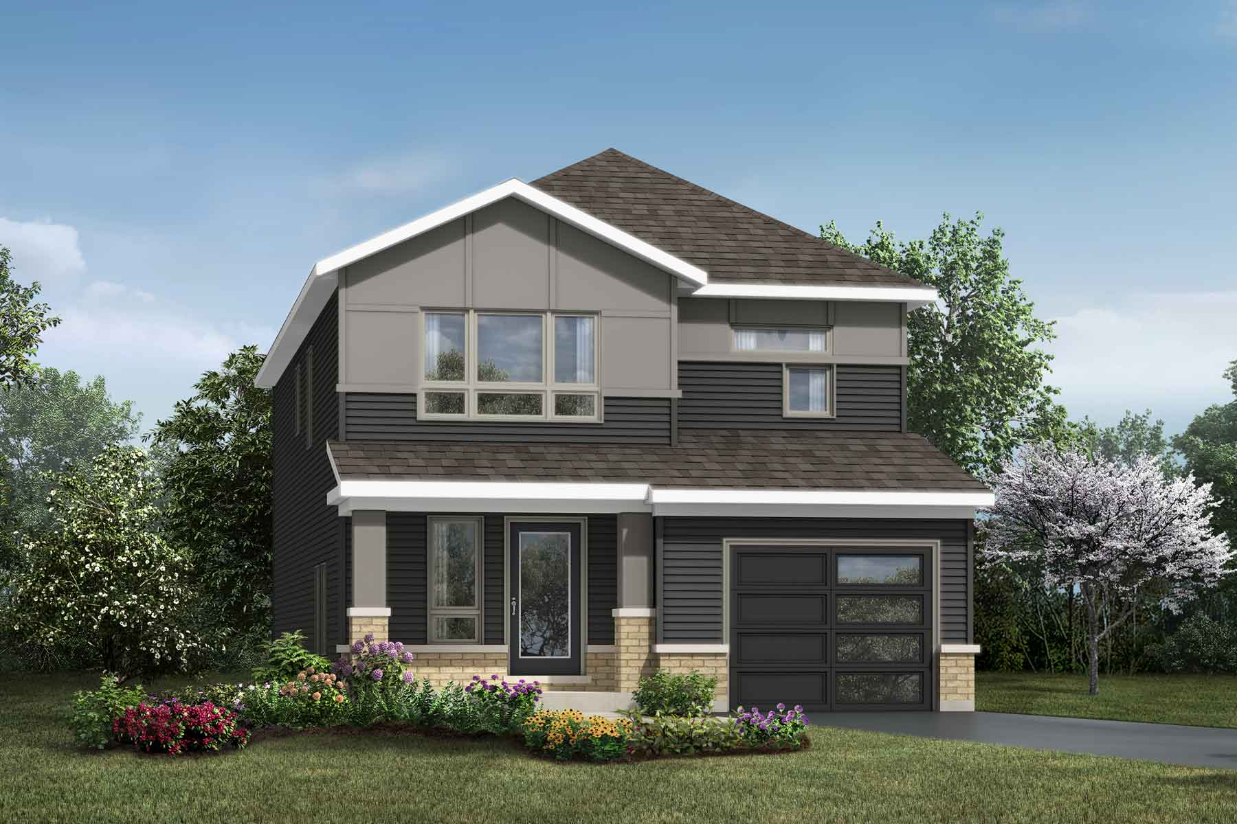 Primrose II Plan Elevation Front at Connections In Kanata in Kanata Ontario by Mattamy Homes