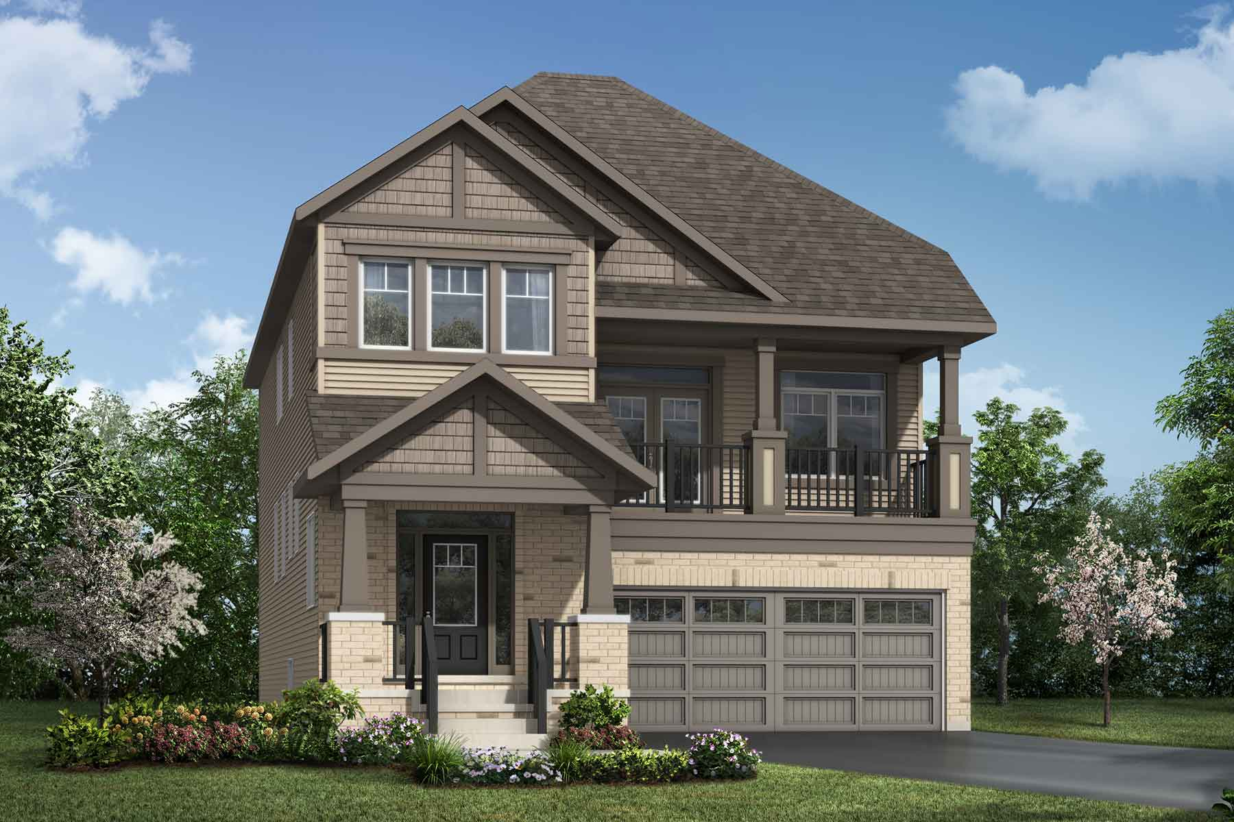 Shelburne Plan Elevation Front at Connections In Kanata in Kanata Ontario by Mattamy Homes