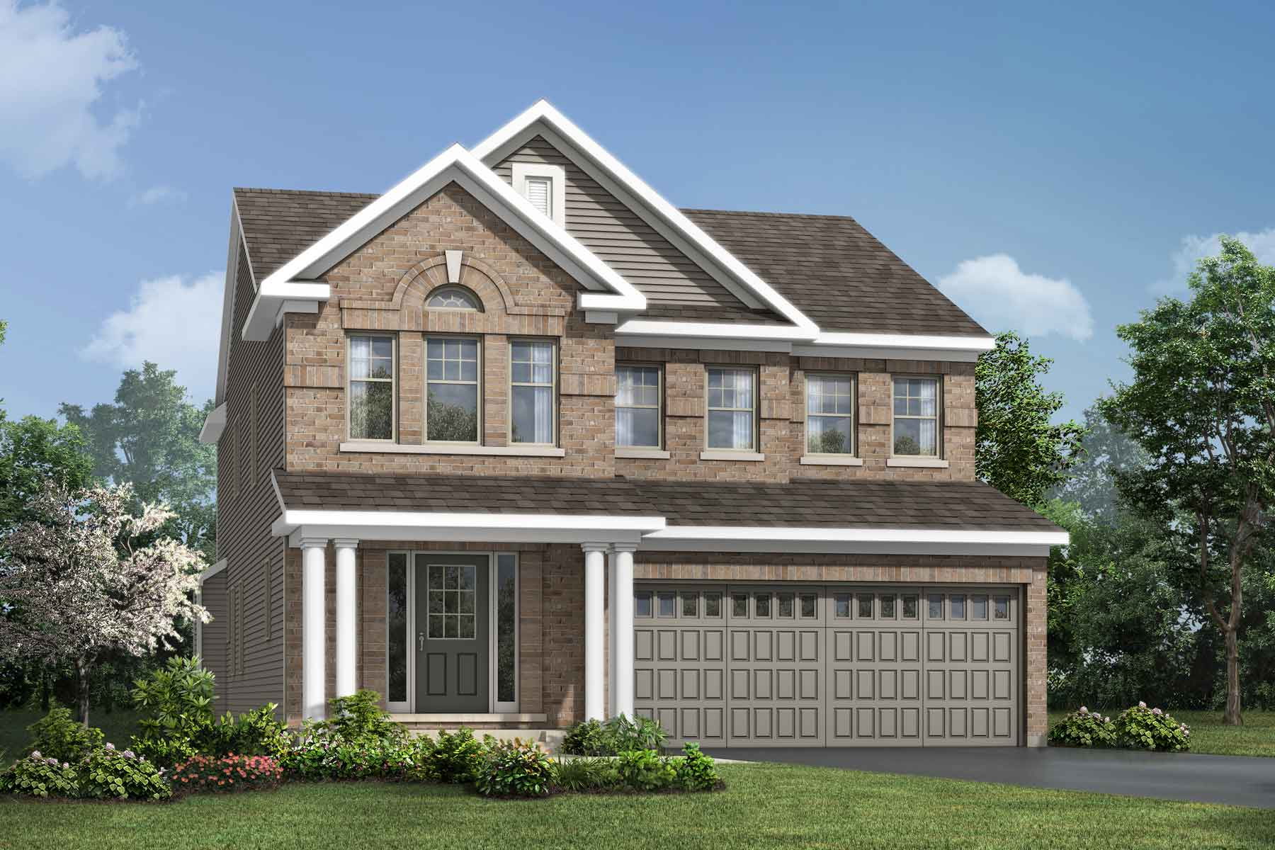 Sycamore Plan Elevation Front at Connections In Kanata in Kanata Ontario by Mattamy Homes