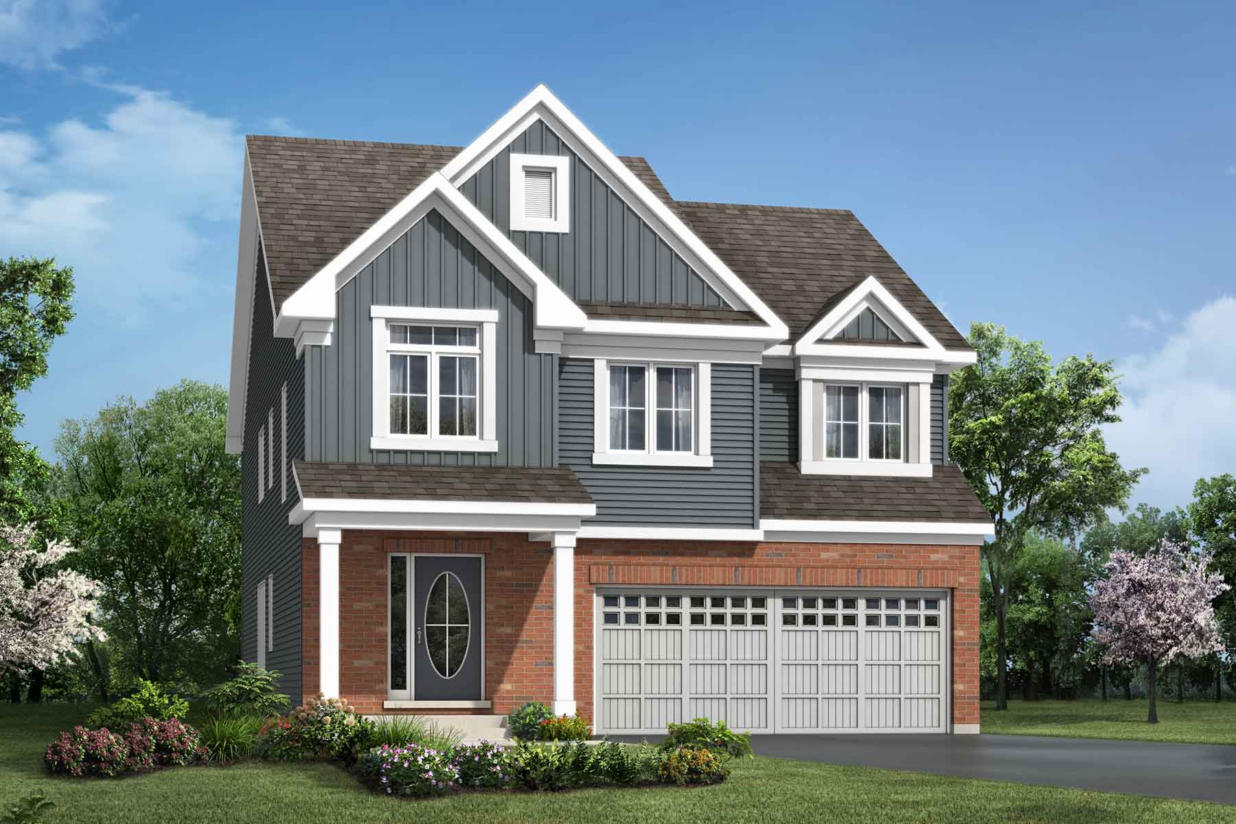 Valleyfield Plan Elevation Front at Connections In Kanata in Kanata Ontario by Mattamy Homes