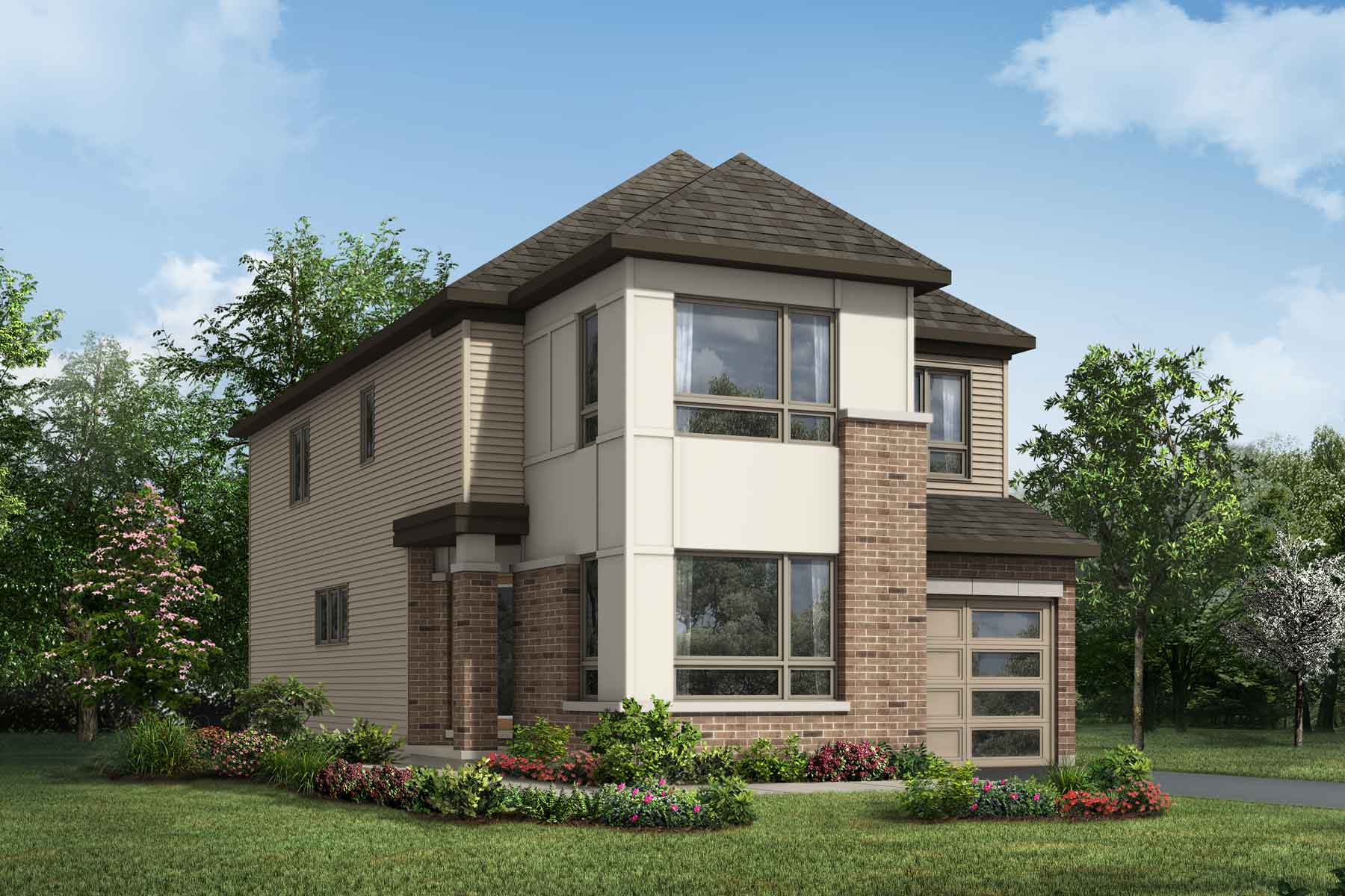 Wildflower Plan Elevation Front at Connections In Kanata in Kanata Ontario by Mattamy Homes