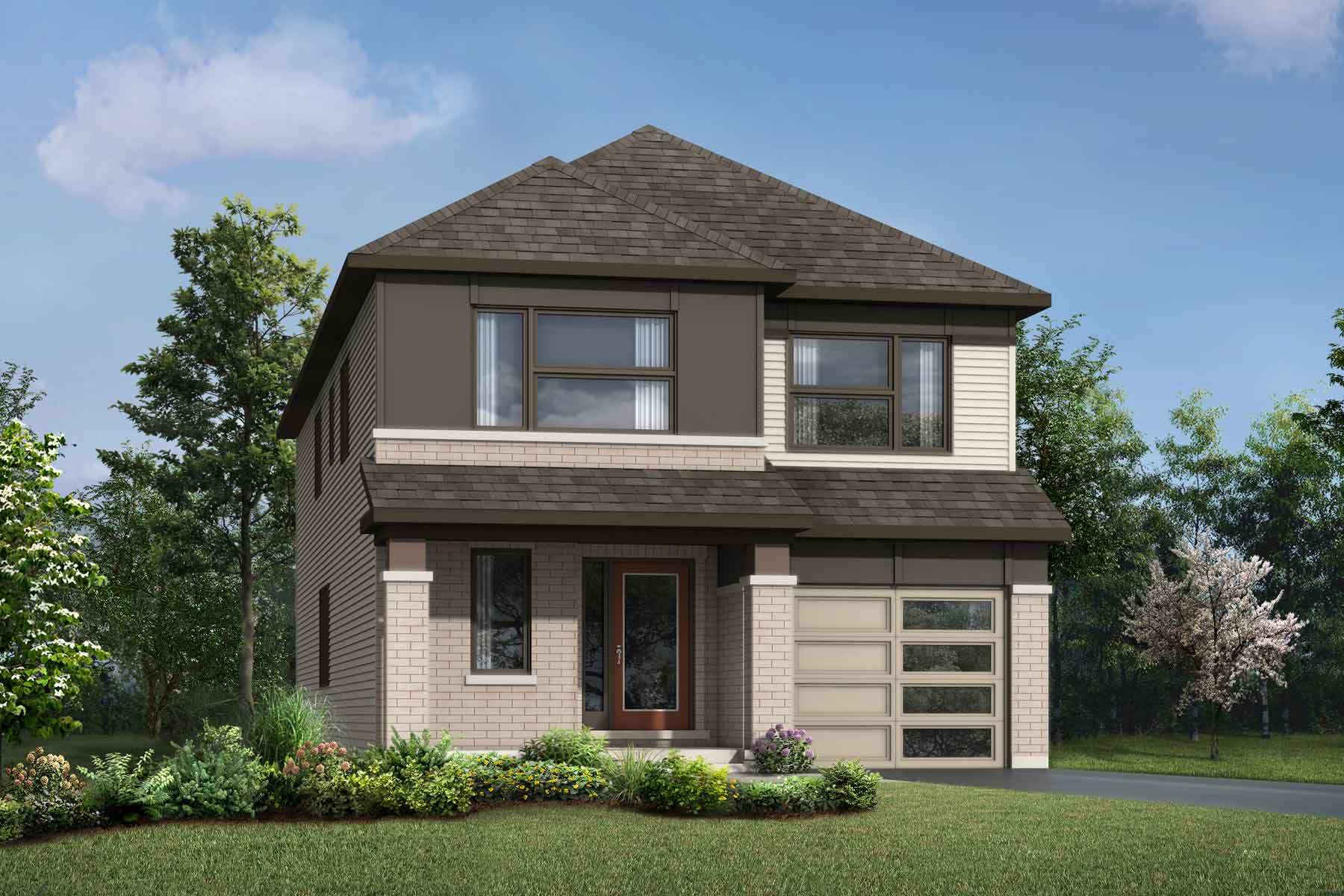Wintergreen Plan Elevation Front at Connections In Kanata in Kanata Ontario by Mattamy Homes