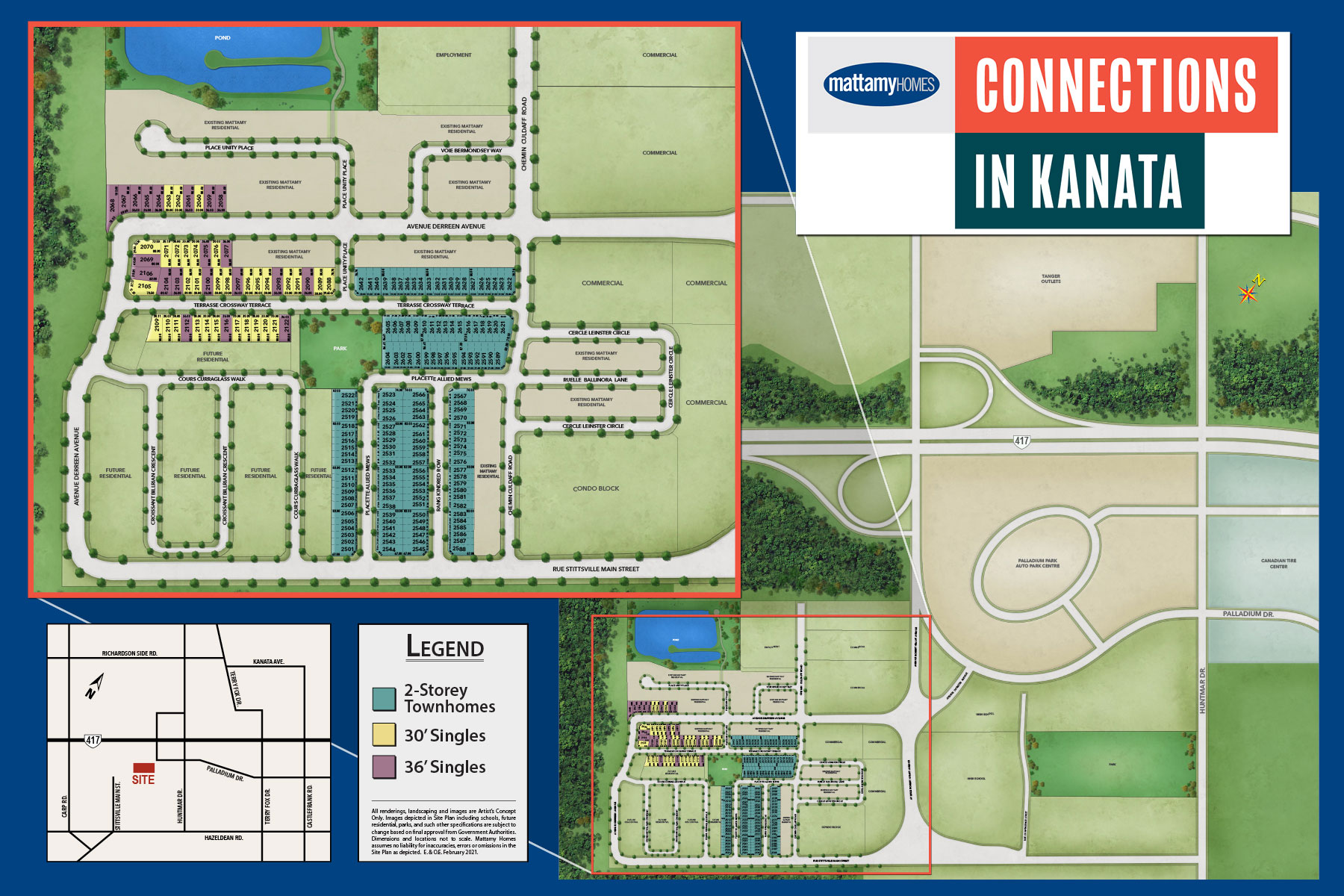 Connections In Kanata Lot Map in Kanata Ontario by Mattamy Homes