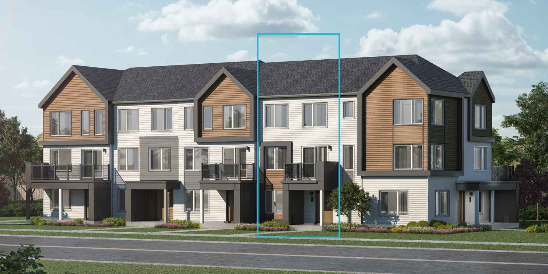 Brentland Plan TownHomes at Promenade in Barrhaven Ontario by Mattamy Homes
