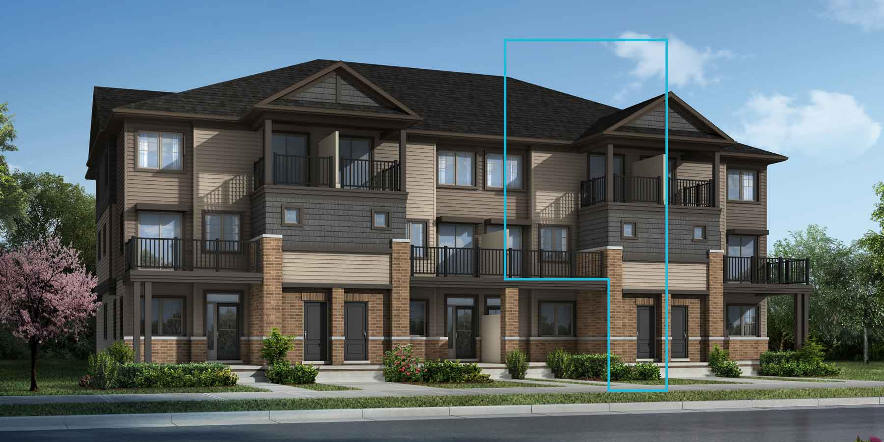 Buttercup Plan TownHomes at Promenade in Barrhaven Ontario by Mattamy Homes
