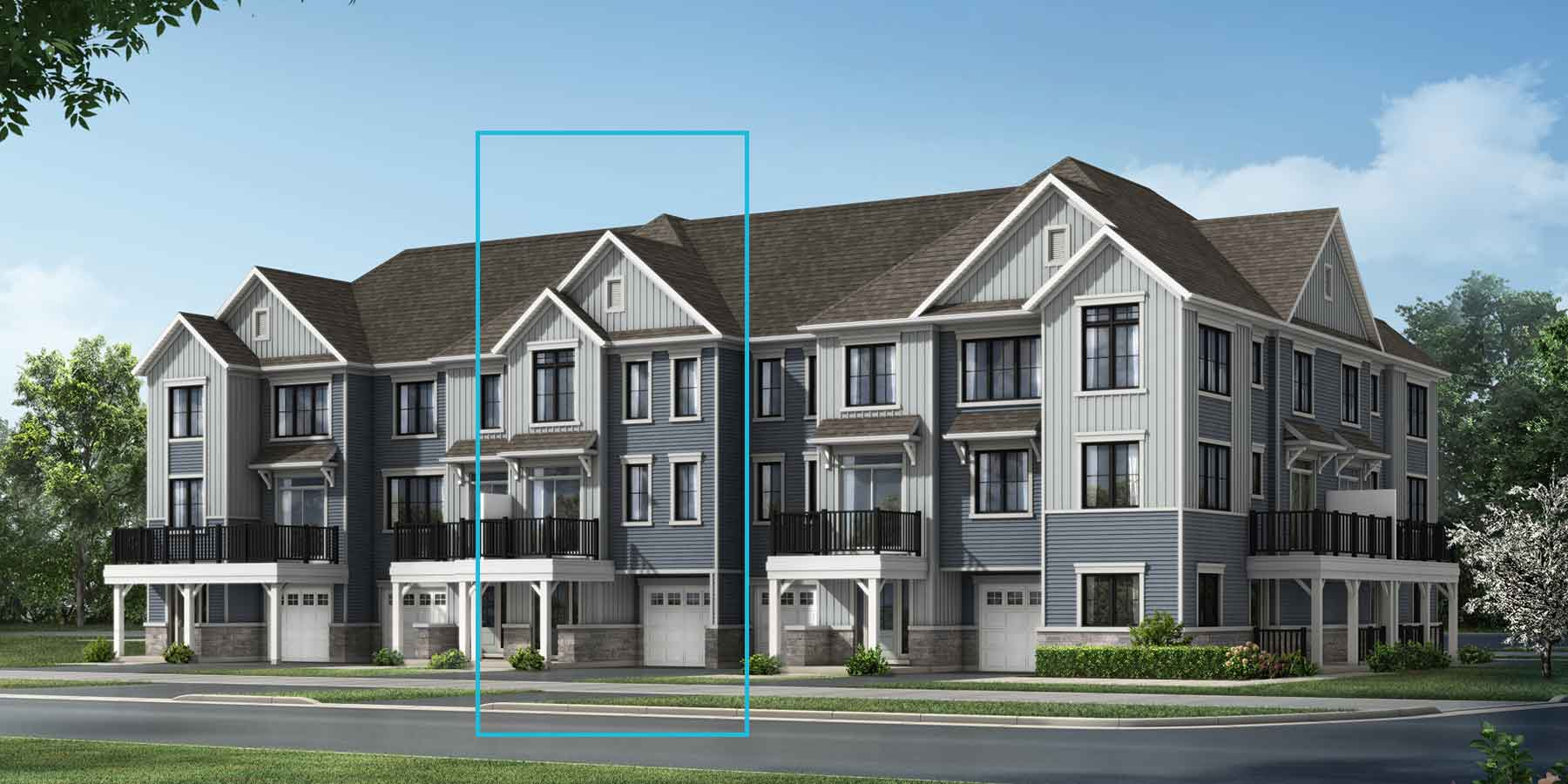 Flagstone Plan TownHomes at Promenade in Barrhaven Ontario by Mattamy Homes