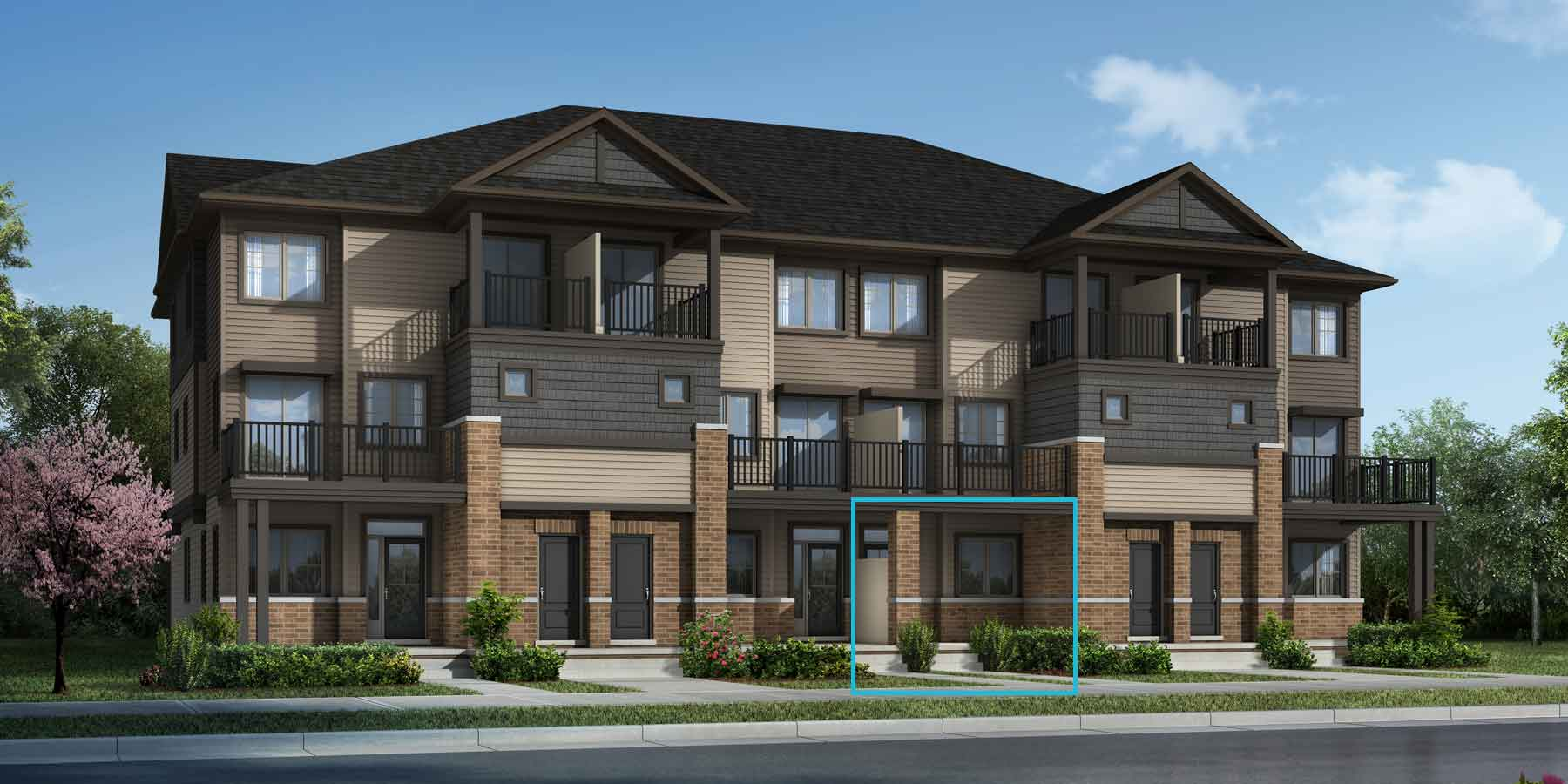 Foxglove Plan TownHomes at Promenade in Barrhaven Ontario by Mattamy Homes