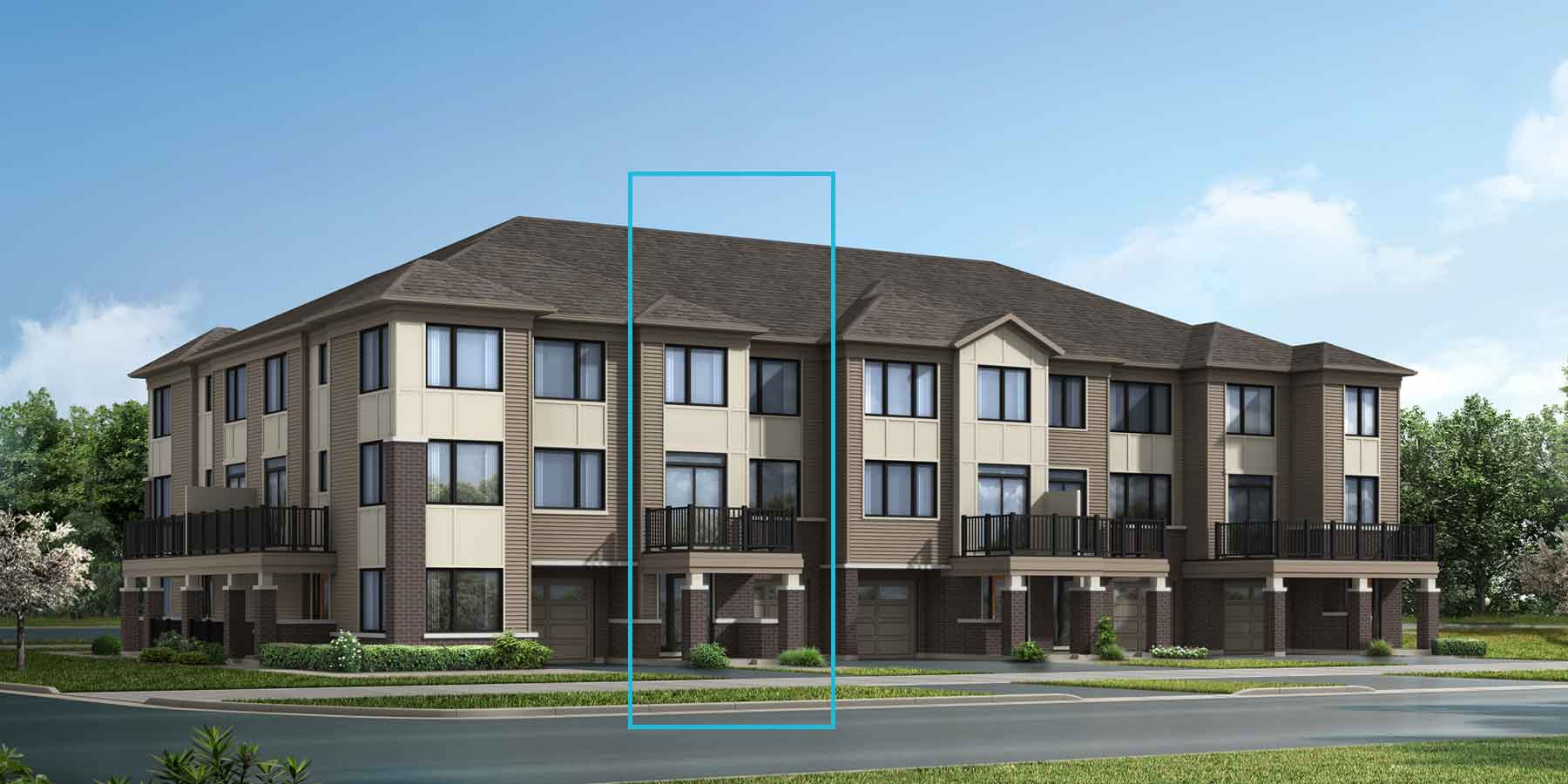 Gemstone Plan TownHomes at Promenade in Barrhaven Ontario by Mattamy Homes