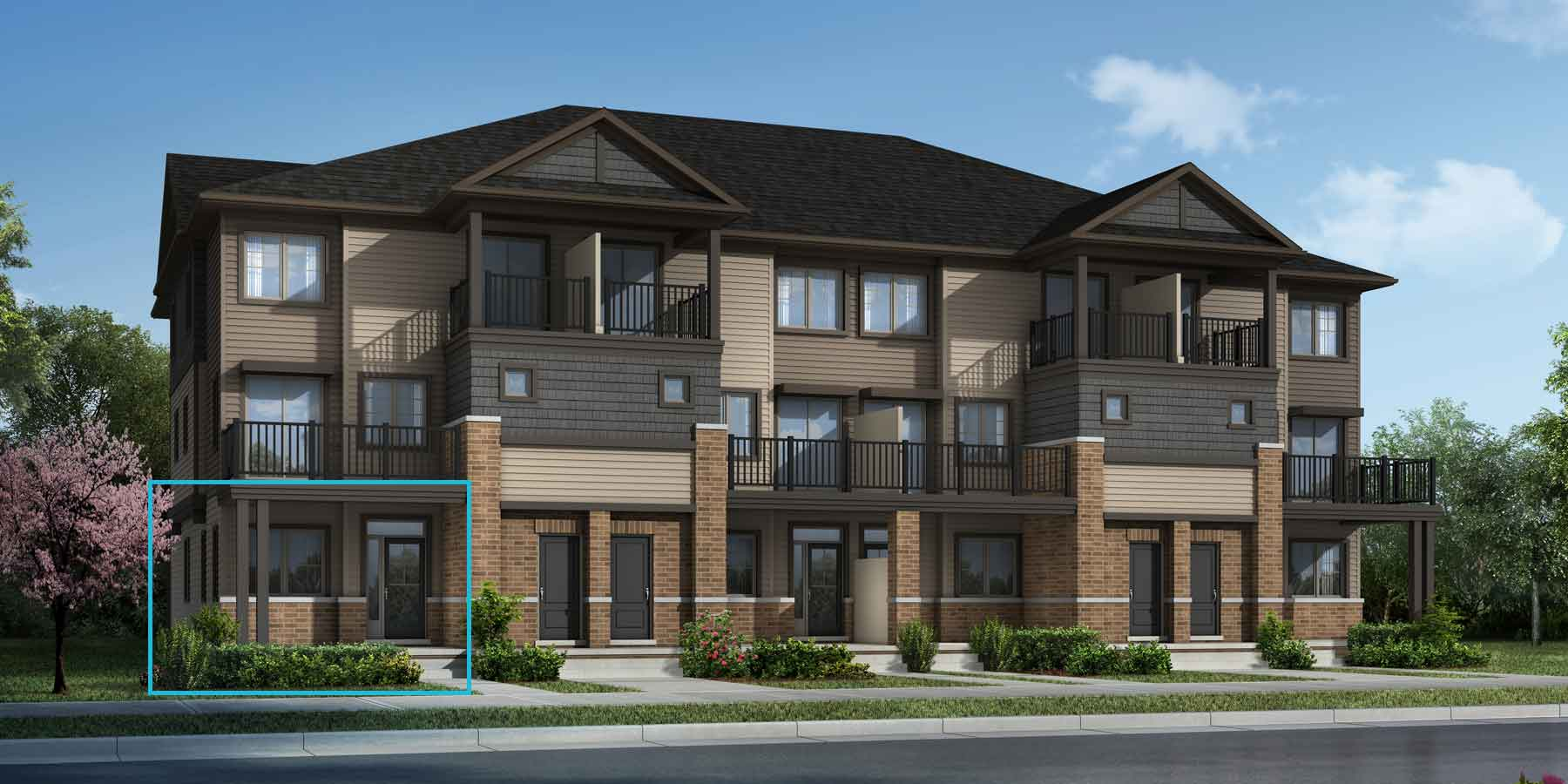 Poppy Plan TownHomes at Promenade in Barrhaven Ontario by Mattamy Homes