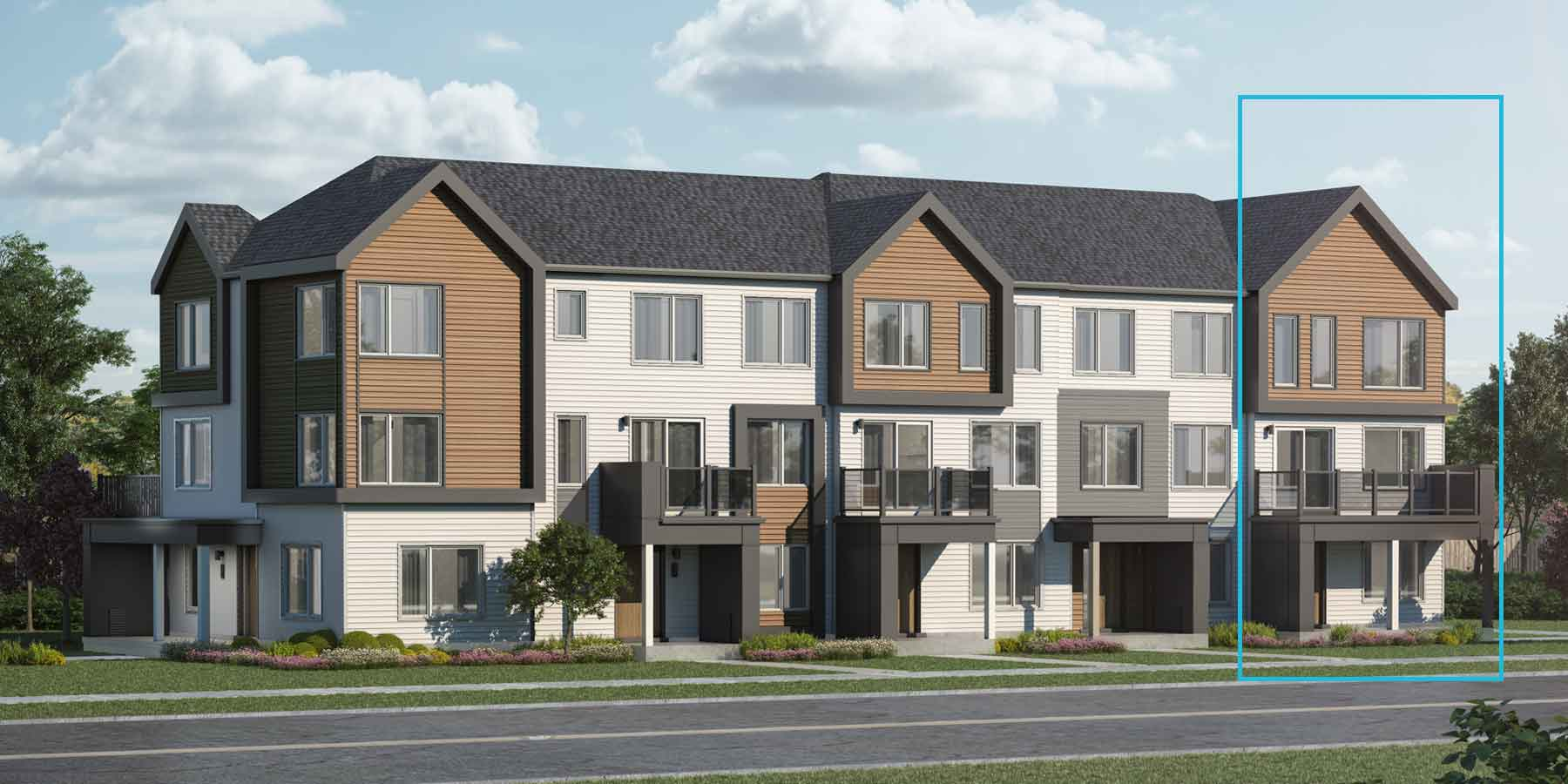 Rockcliffe End Plan TownHomes at Promenade in Barrhaven Ontario by Mattamy Homes