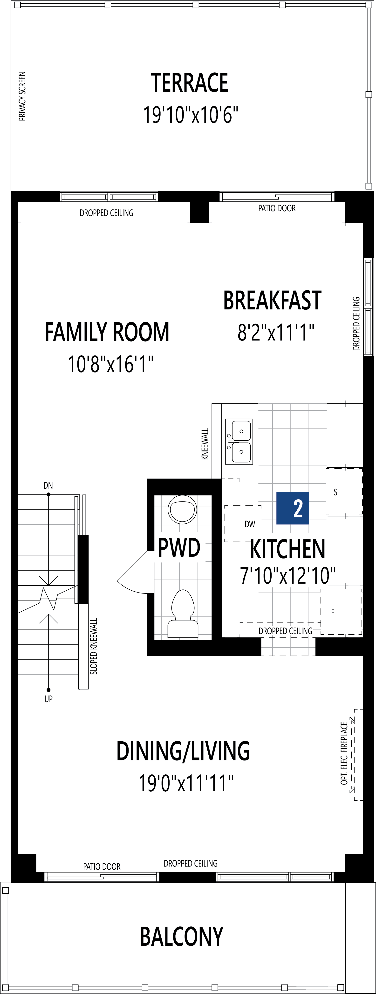 Rockcliffe End Plan Floor Plan at Promenade in Barrhaven Ontario by Mattamy Homes
