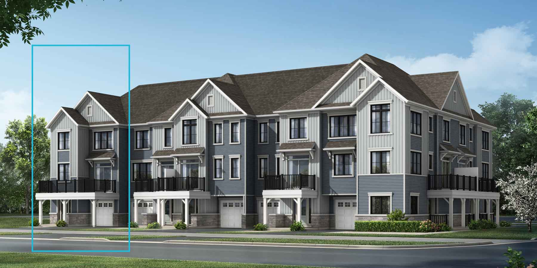 Sandstone End Plan TownHomes at Promenade in Barrhaven Ontario by Mattamy Homes