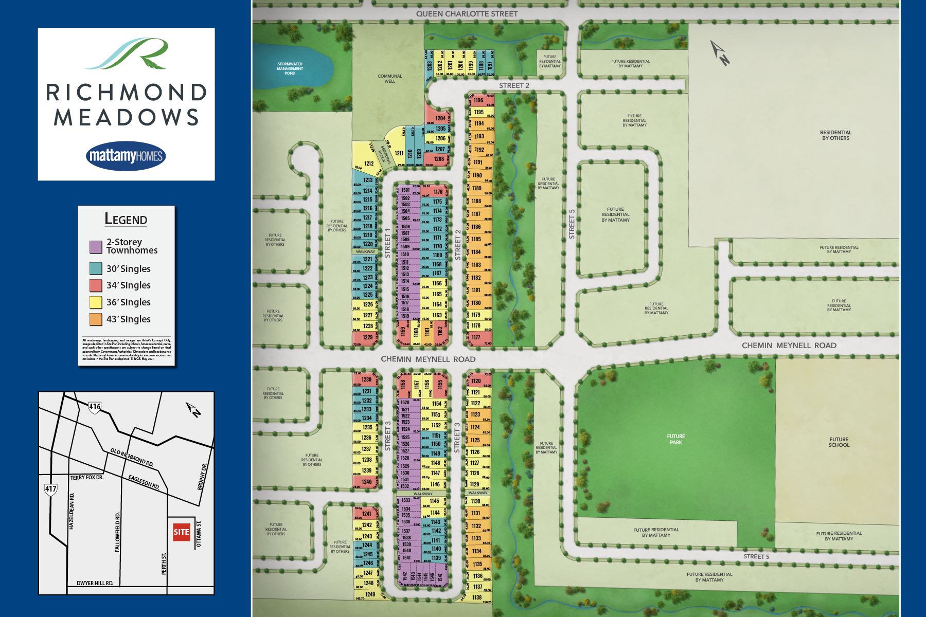 Richmond Meadows Lot Map in Richmond  Ontario by Mattamy Homes