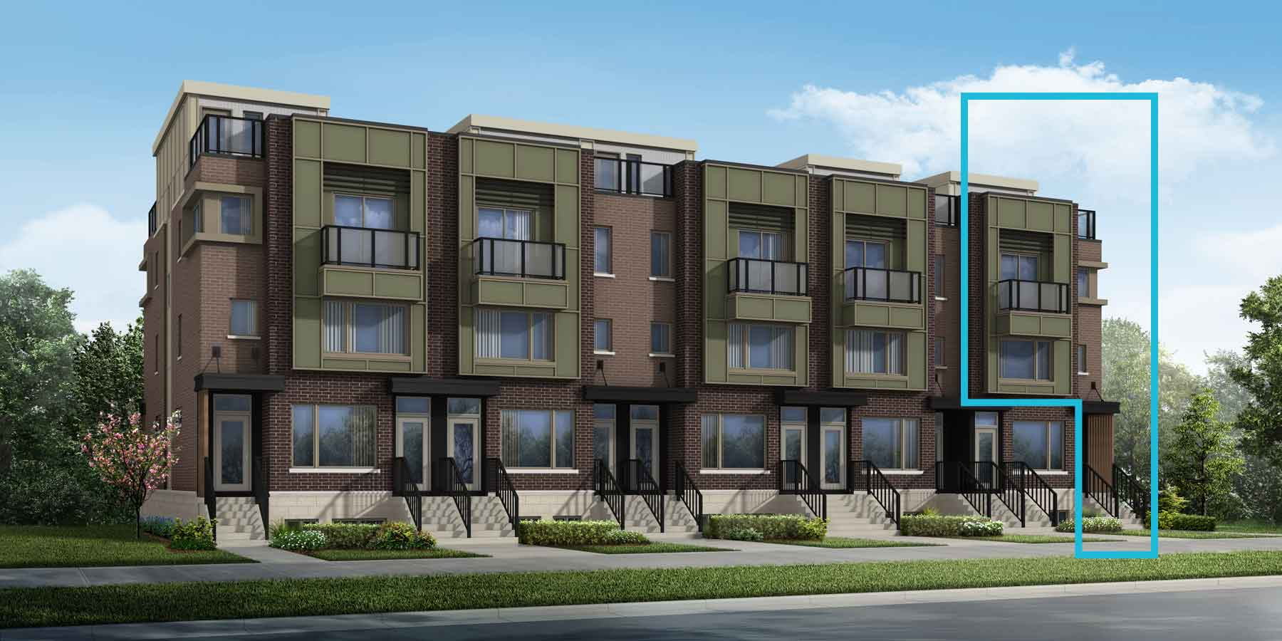 Lansdowne Plan TownHomes at Wateridge Village At Rockcliffe in Ottawa Ontario by Mattamy Homes