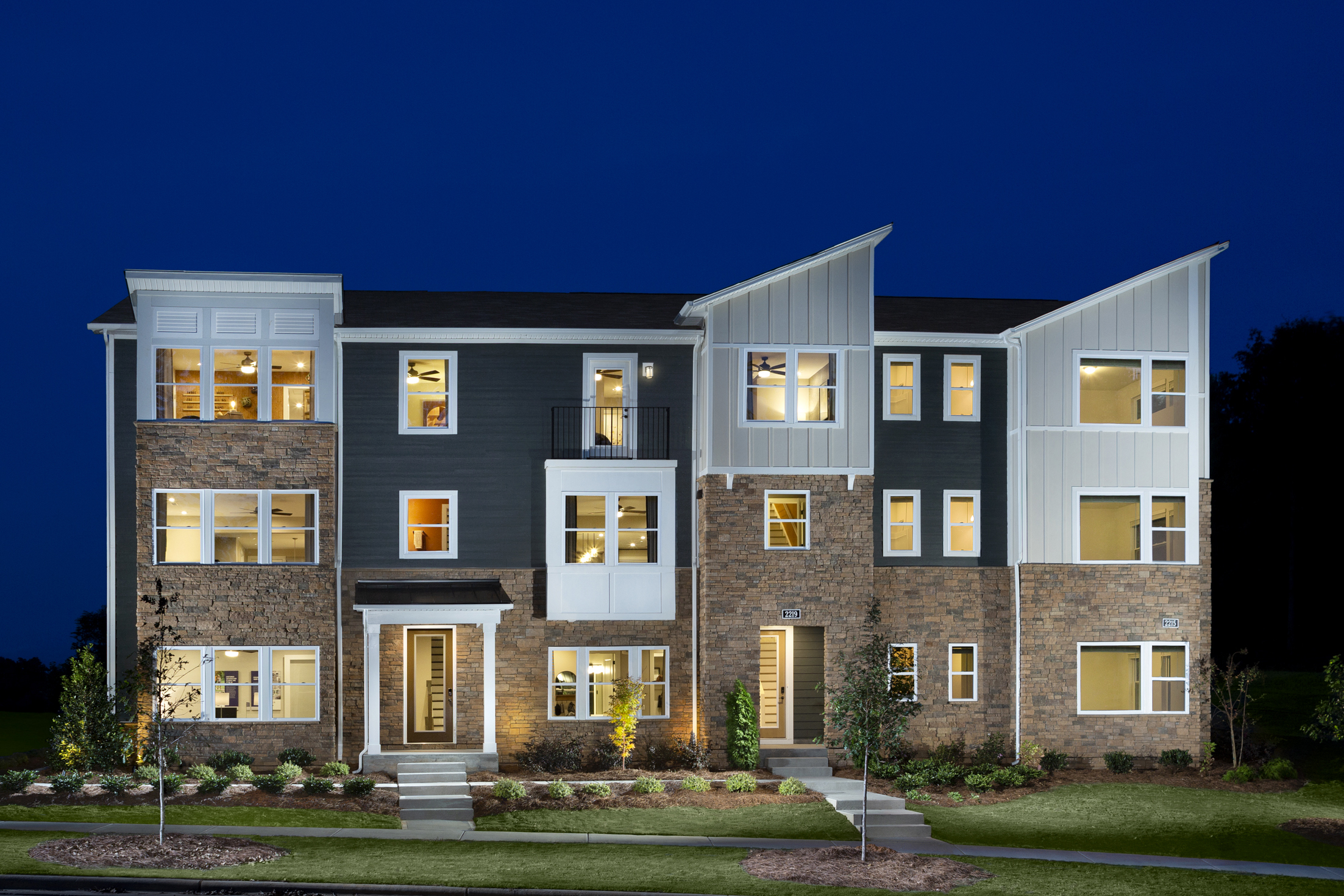 Gramercy Plan TownHomes at Aria at The Park in Charlotte North Carolina by Mattamy Homes