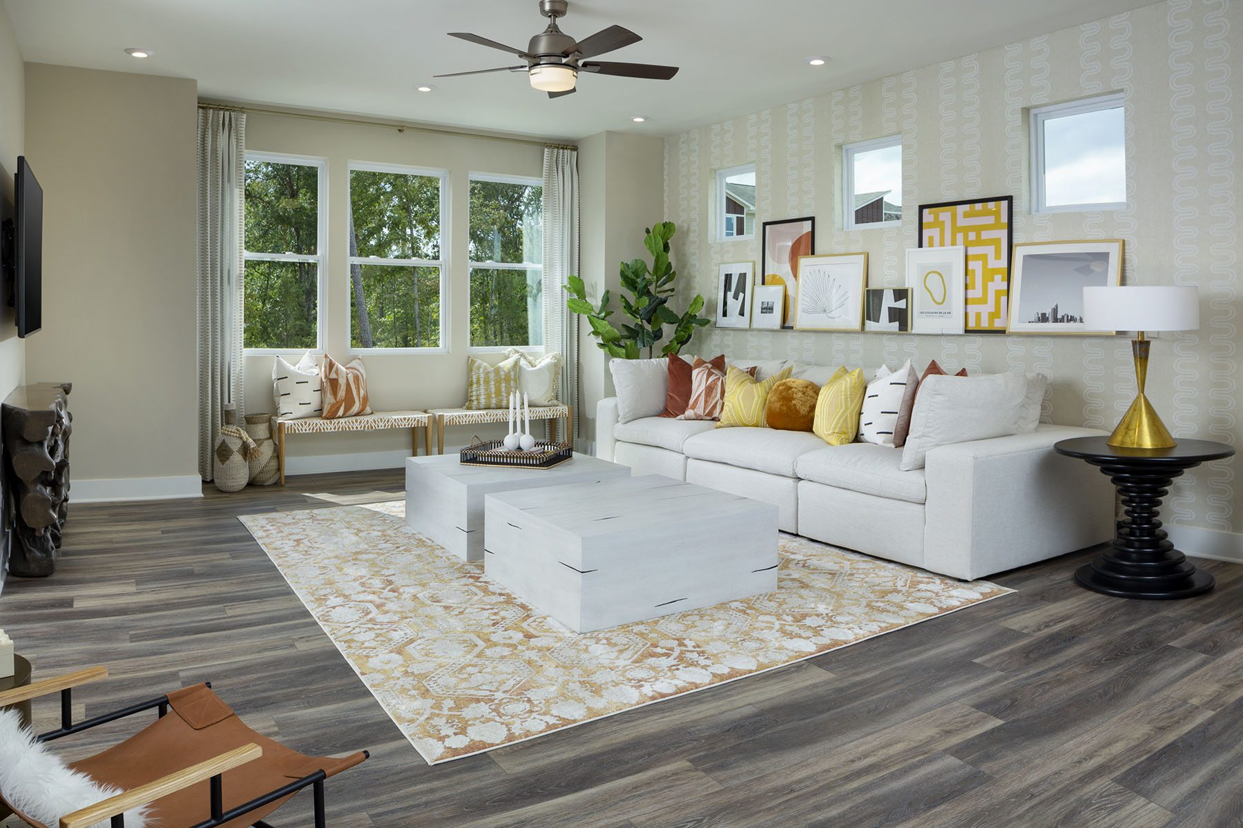 Gramercy Plan Greatroom at Aria at The Park in Charlotte North Carolina by Mattamy Homes