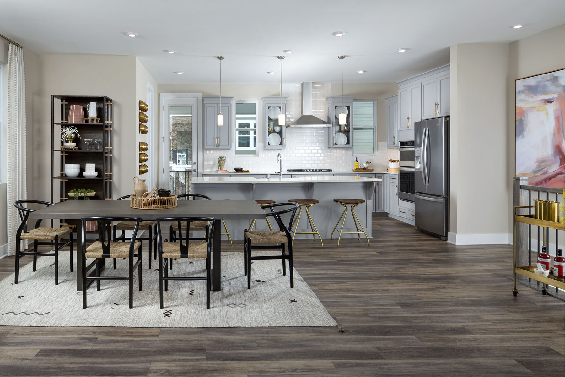 Gramercy Plan Dining at Aria at The Park in Charlotte North Carolina by Mattamy Homes