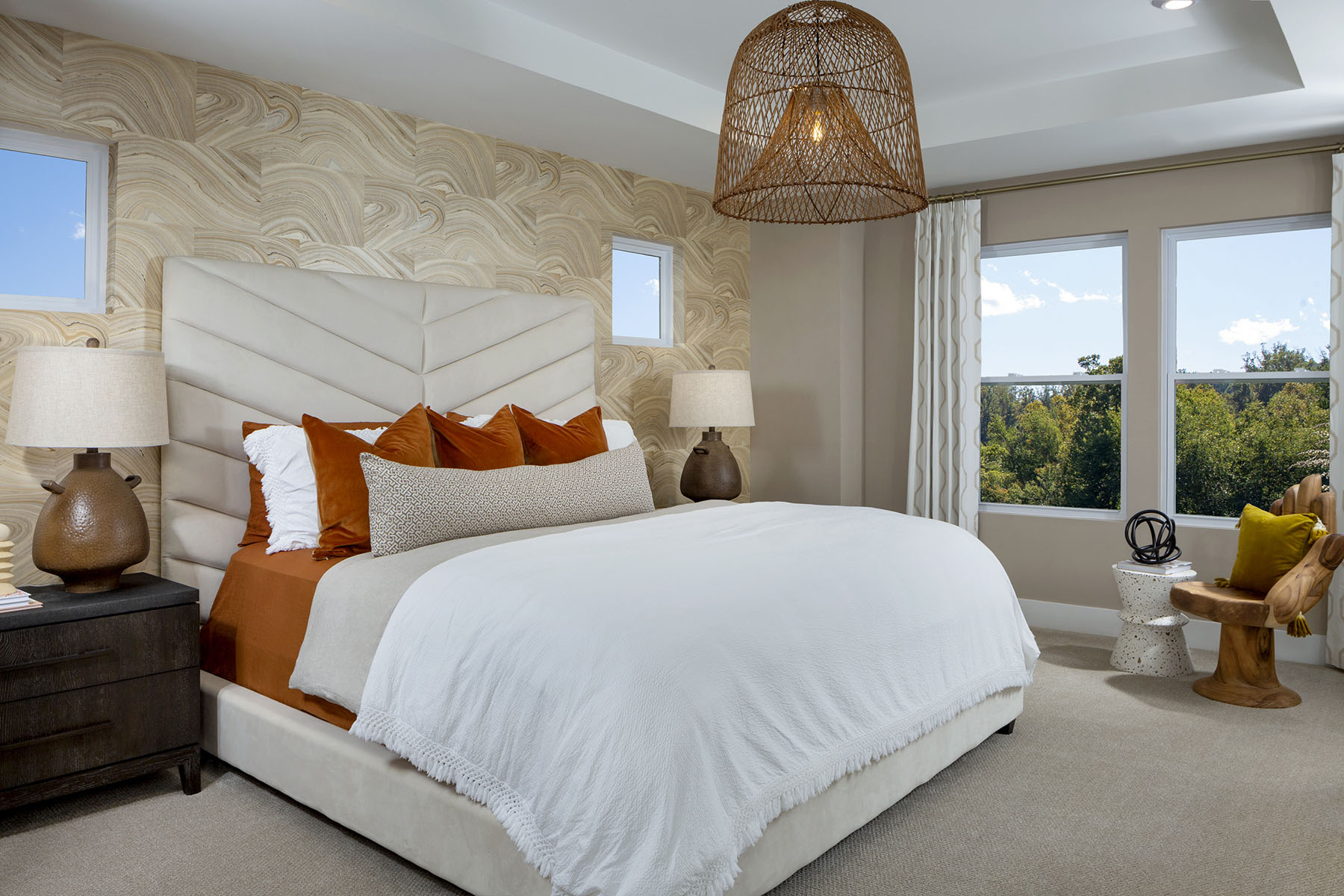 Gramercy Plan Bedroom at Aria at The Park in Charlotte North Carolina by Mattamy Homes