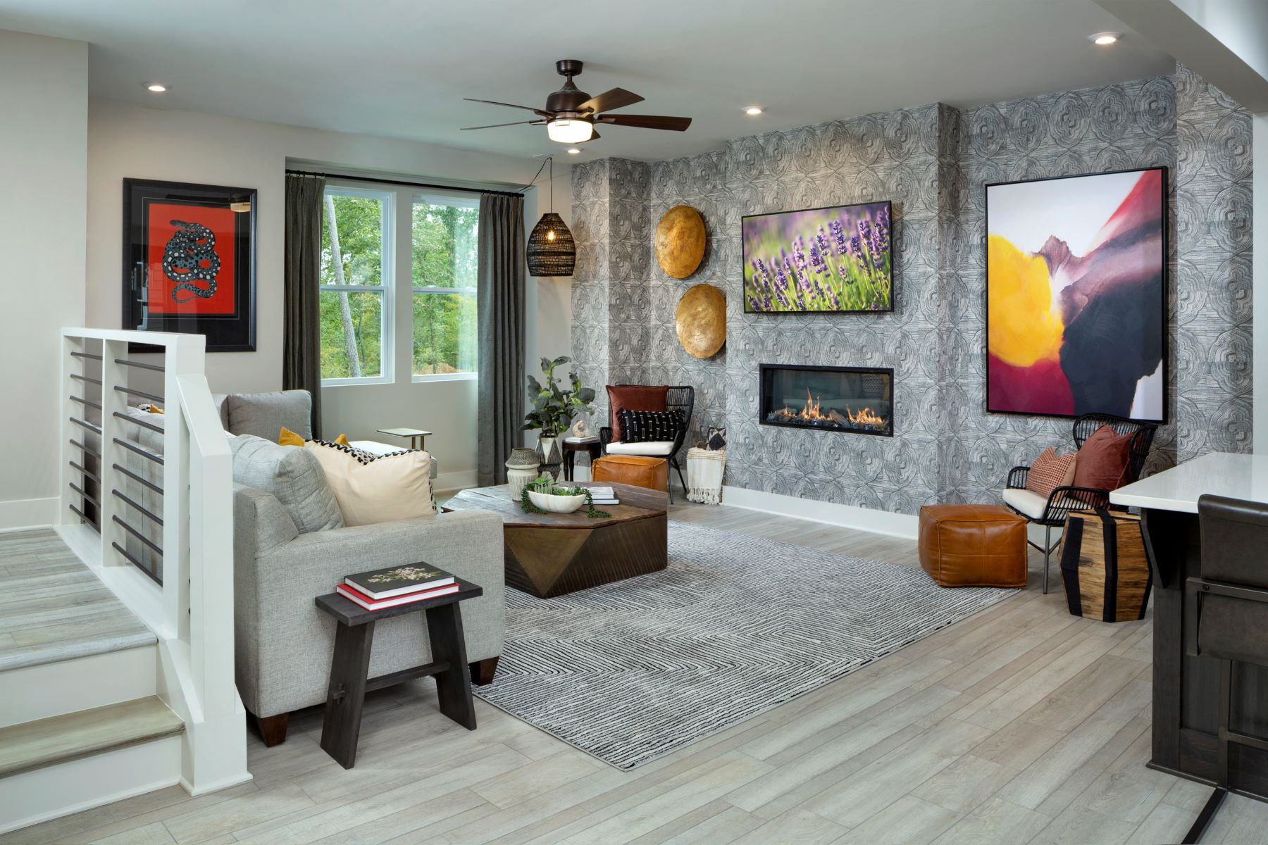 Greenwich Plan Greatroom at Aria at The Park in Charlotte North Carolina by Mattamy Homes