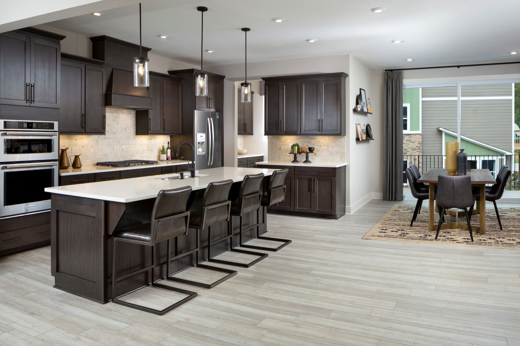Greenwich Plan Kitchen at Aria at The Park in Charlotte North Carolina by Mattamy Homes
