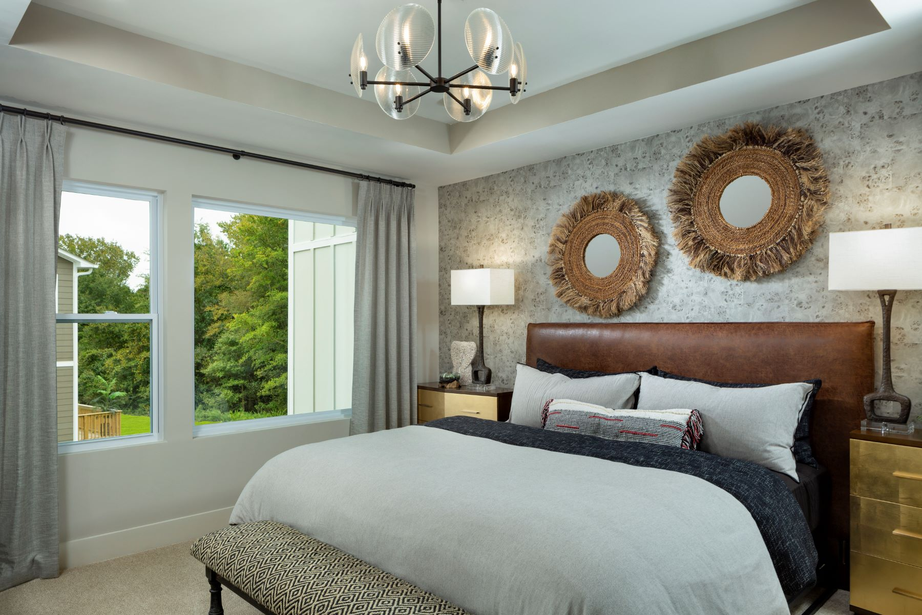 Greenwich Plan Bedroom at Aria at The Park in Charlotte North Carolina by Mattamy Homes