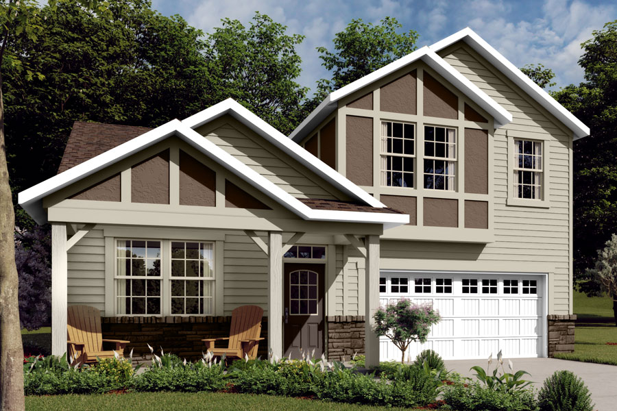Amelia Plan Elevation Front at Braeburn in Indian Trail North Carolina by Mattamy Homes