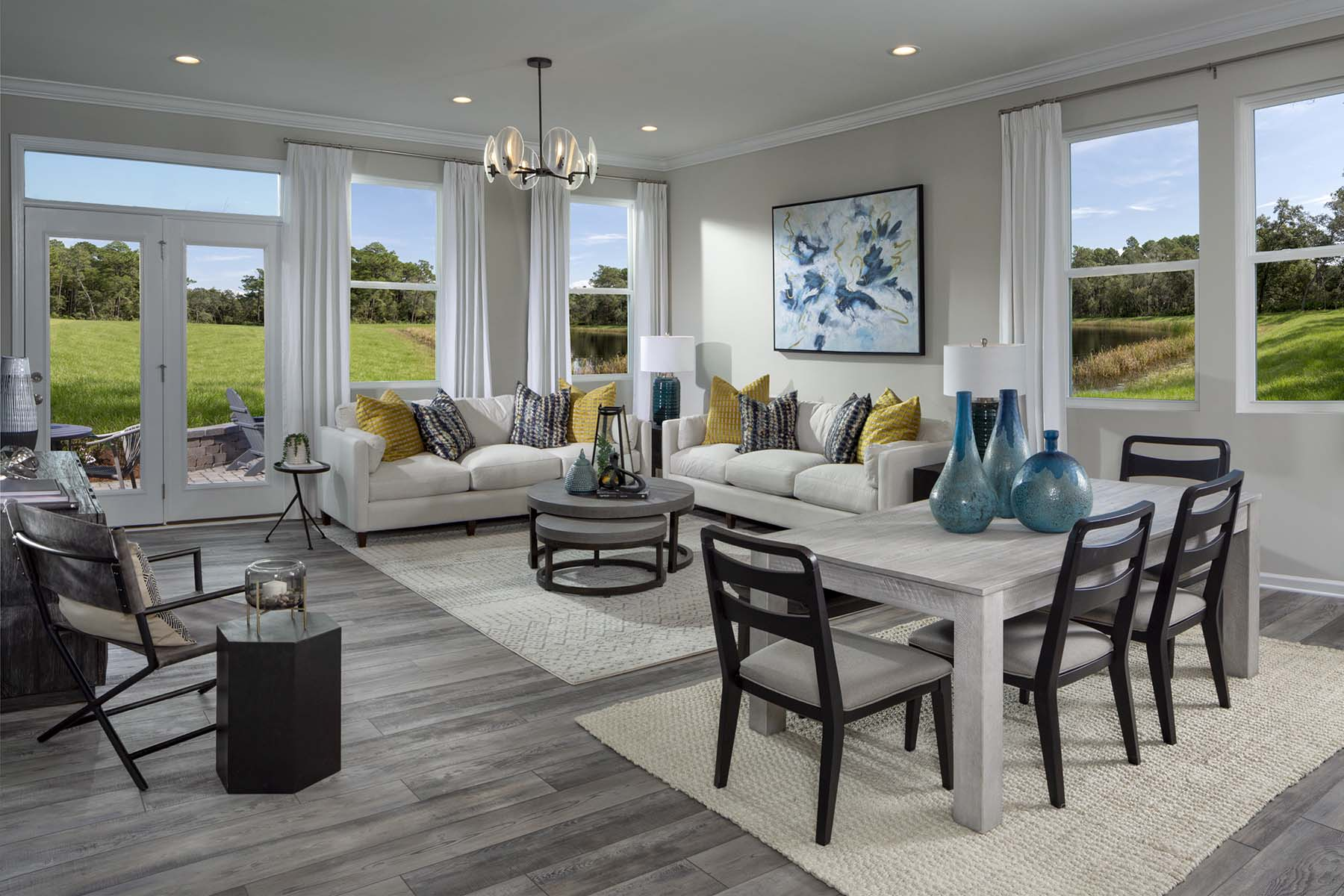 Braeburn Greatroom in Indian Trail North Carolina by Mattamy Homes