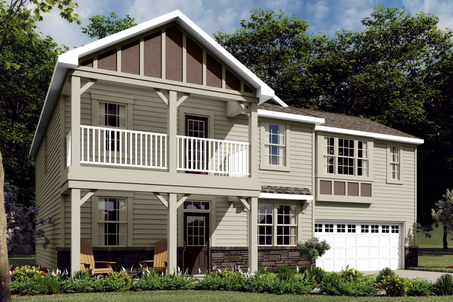 Cameron Plan Elevation Front at Braeburn in Indian Trail North Carolina by Mattamy Homes