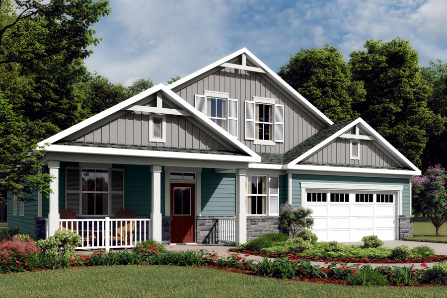Caroline Plan Elevation Front at Braeburn in Indian Trail North Carolina by Mattamy Homes