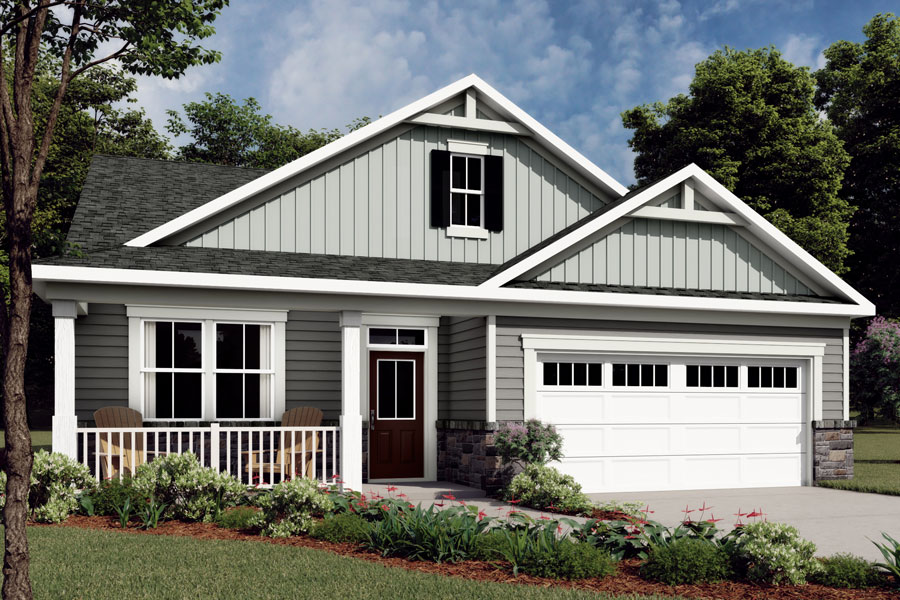 Evelyn Plan Elevation Front at Braeburn in Indian Trail North Carolina by Mattamy Homes