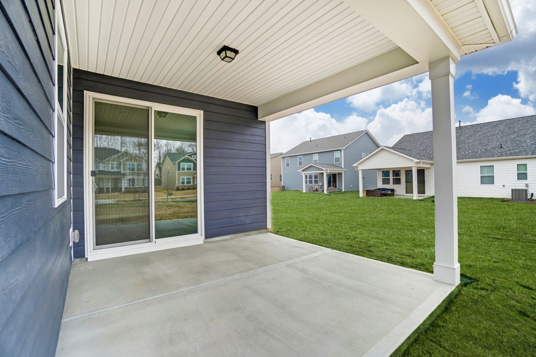 Evelyn Plan Patio at Braeburn in Indian Trail North Carolina by Mattamy Homes