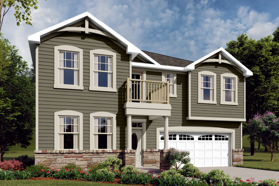 Gaines Plan Elevation Front at Braeburn in Indian Trail North Carolina by Mattamy Homes