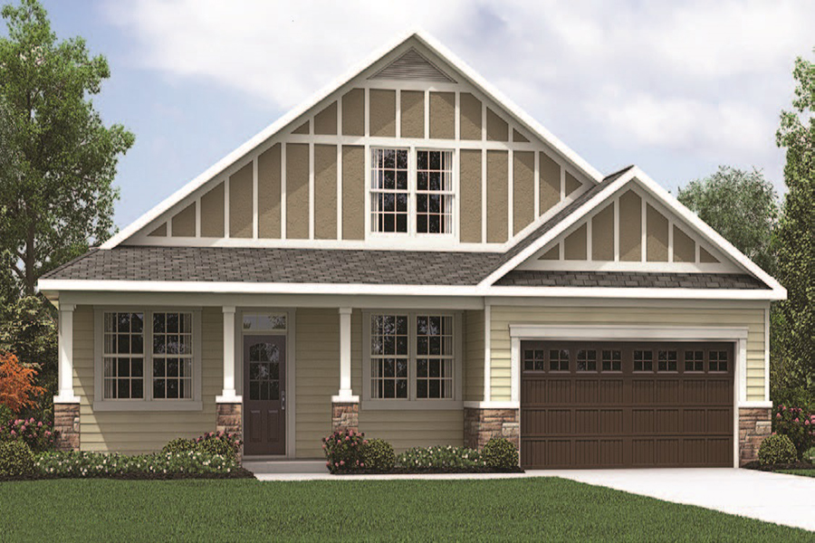 Jaxson Plan Elevation Front at Braeburn in Indian Trail North Carolina by Mattamy Homes
